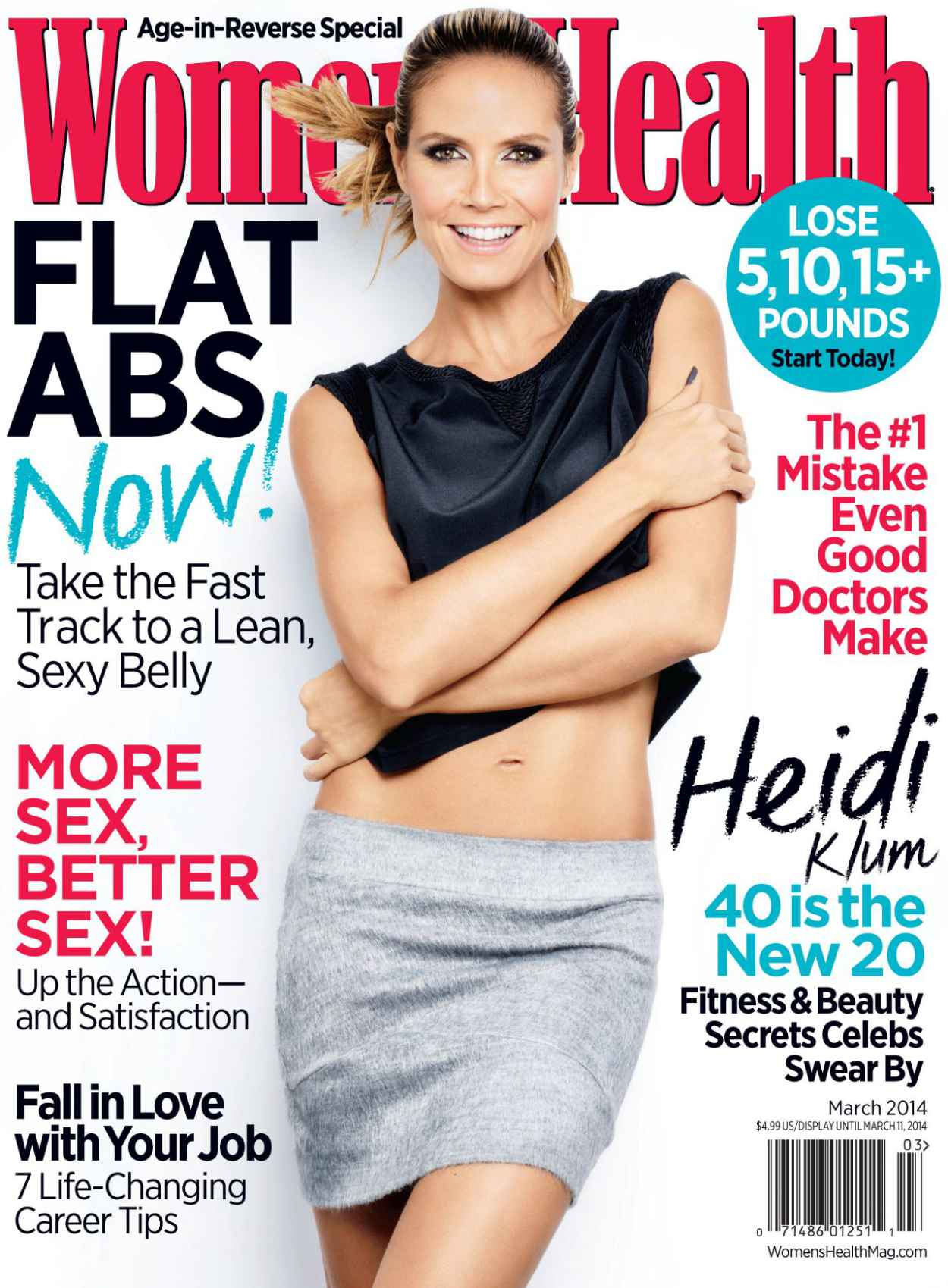 Heidi Klum - WOMENS HEALTH Magazine - March 2015 Cover-1