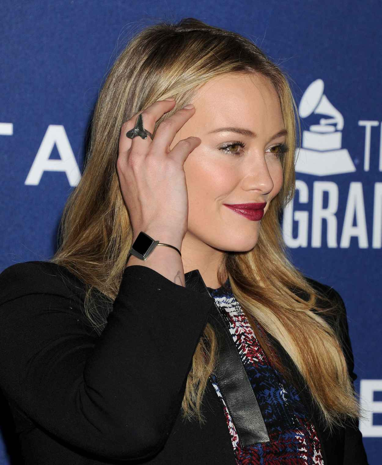Hilary Duff on Red Carpet - Delta Air Lines 2015 Grammy Weekend Reception-1