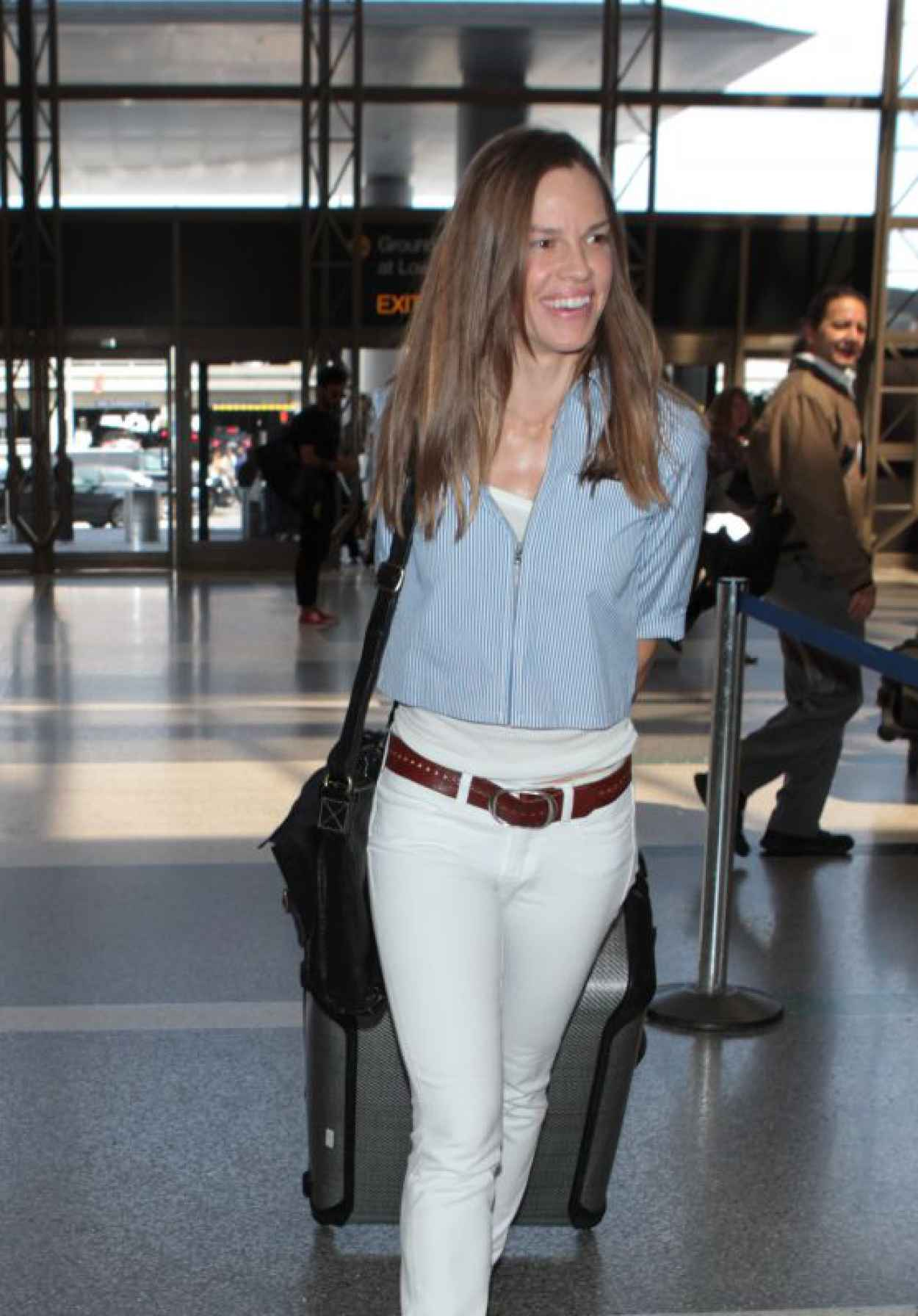 Hilary Swank - at LAX Airport, April 2015-1