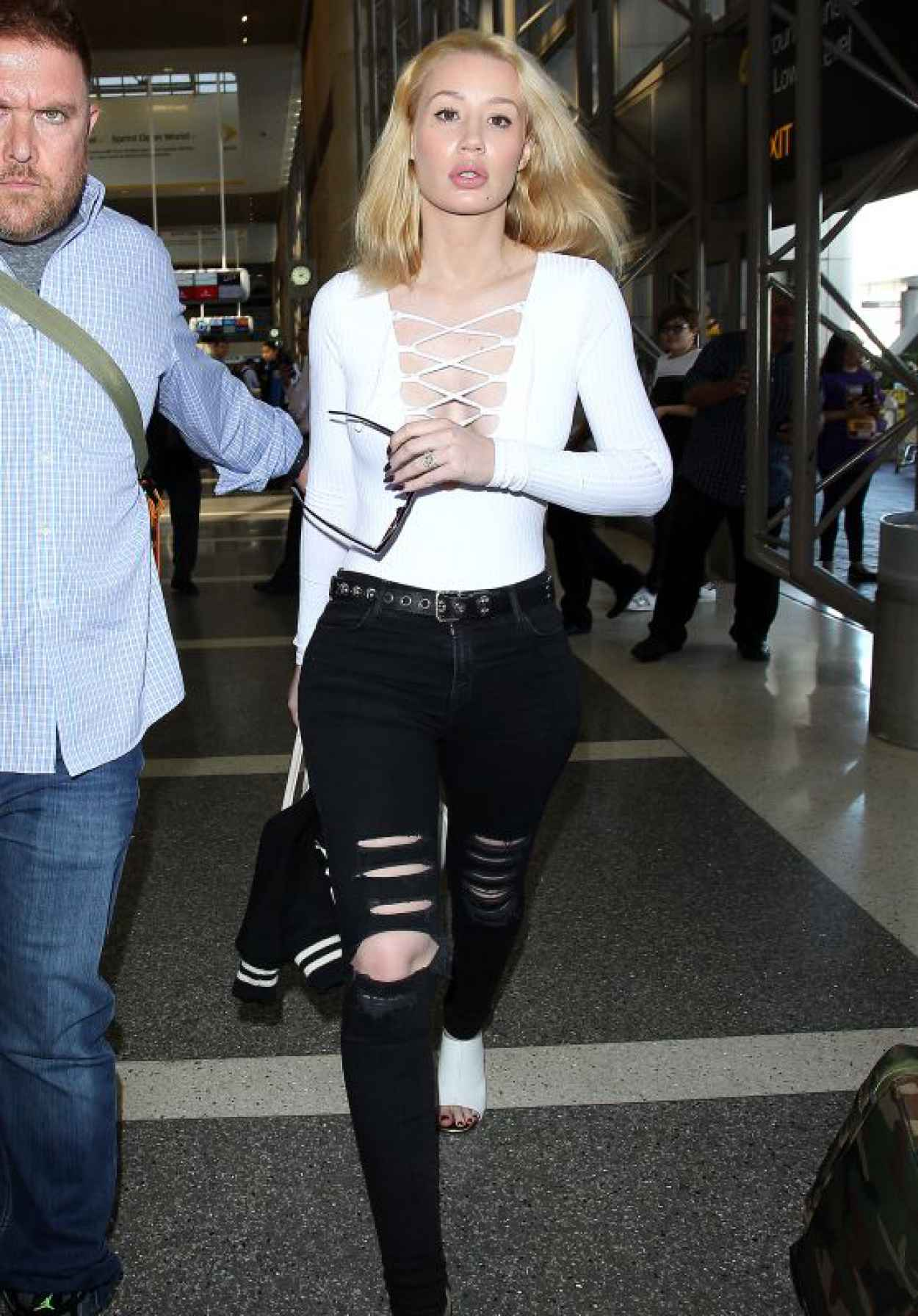 Iggy Azalea - Departing on a Flight at LAX Airport in LA, October 2015-1