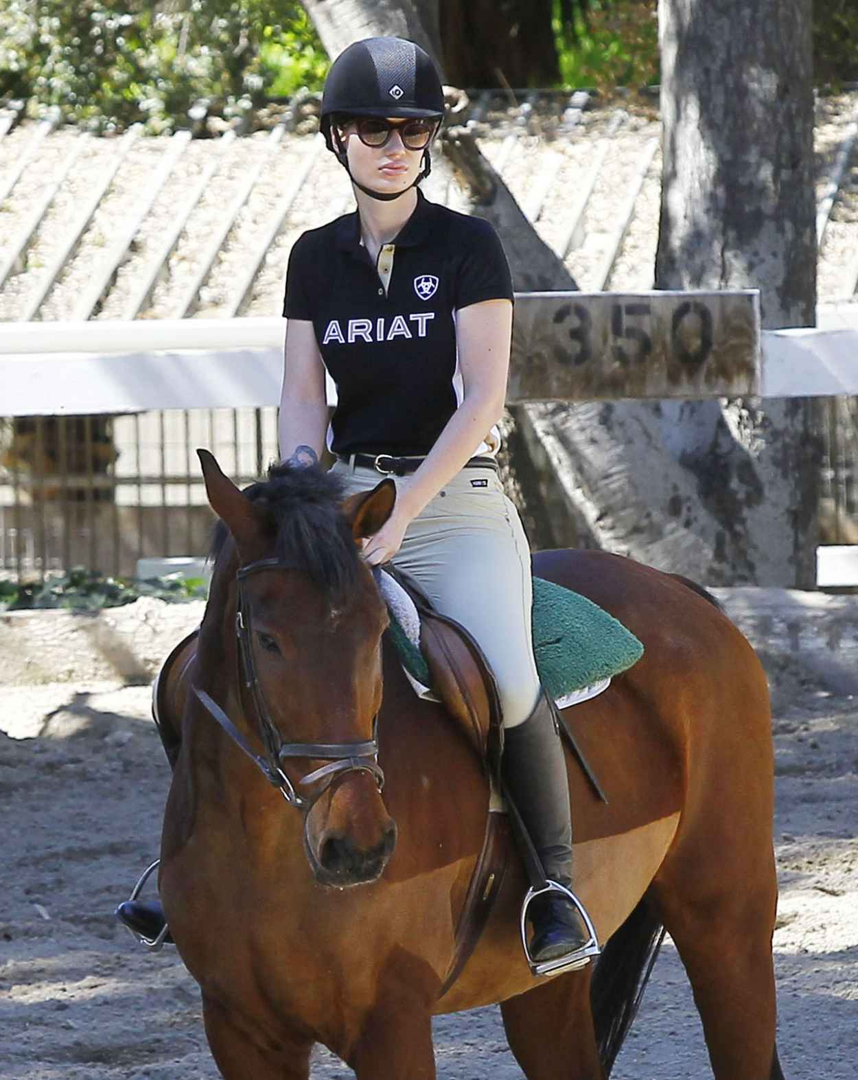 Iggy Azalea - Horseback Riding Lesson in Los Angeles, March 2015-1