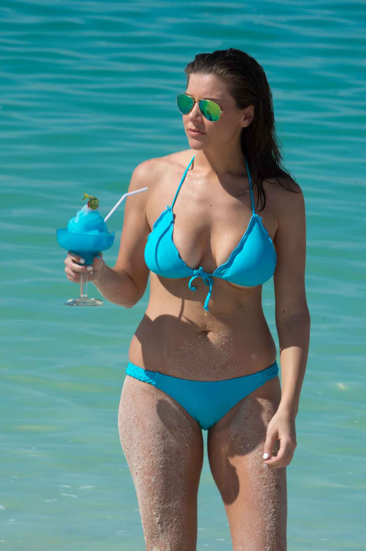 Imogen Thomas Bikini Photos - Miami, March 2015-1