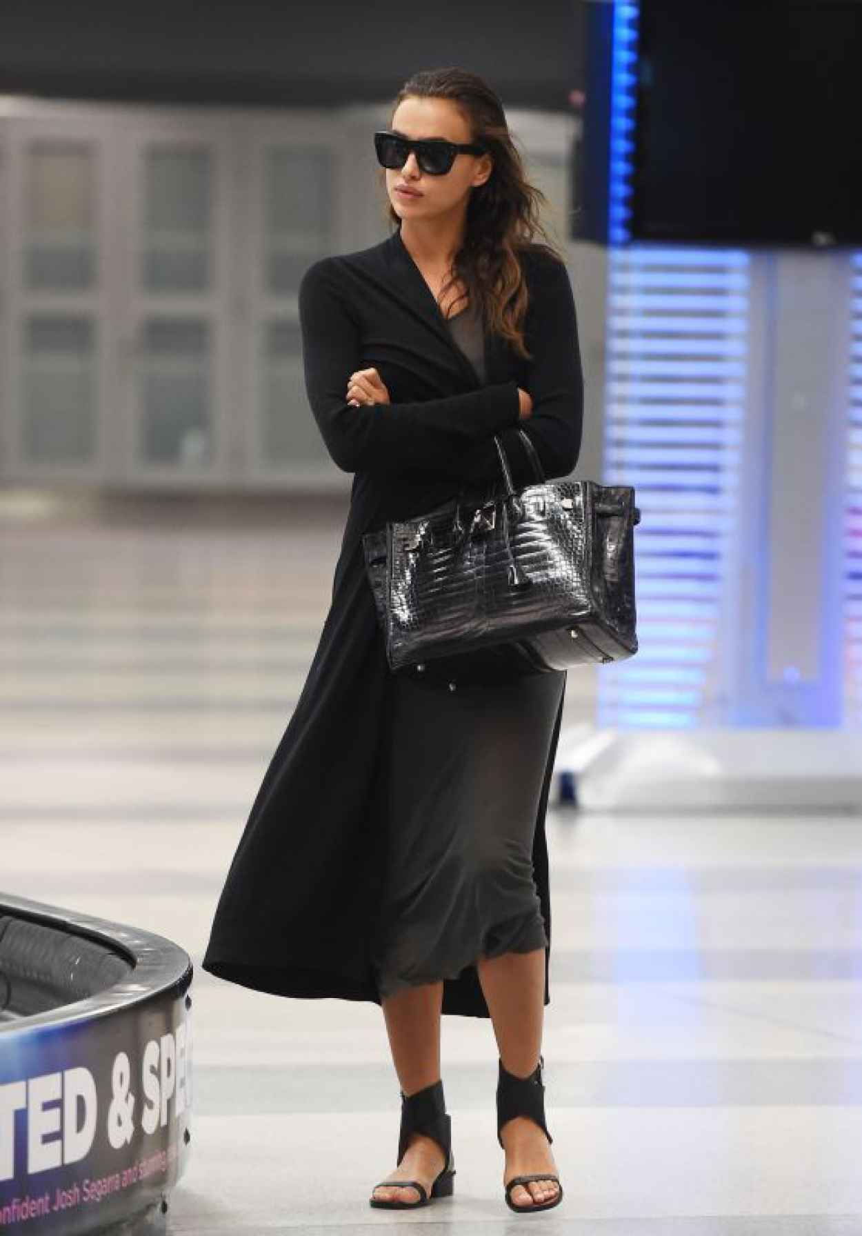 Irina Shayk Airport Style - JFK Airport in NYC, September 2015-1