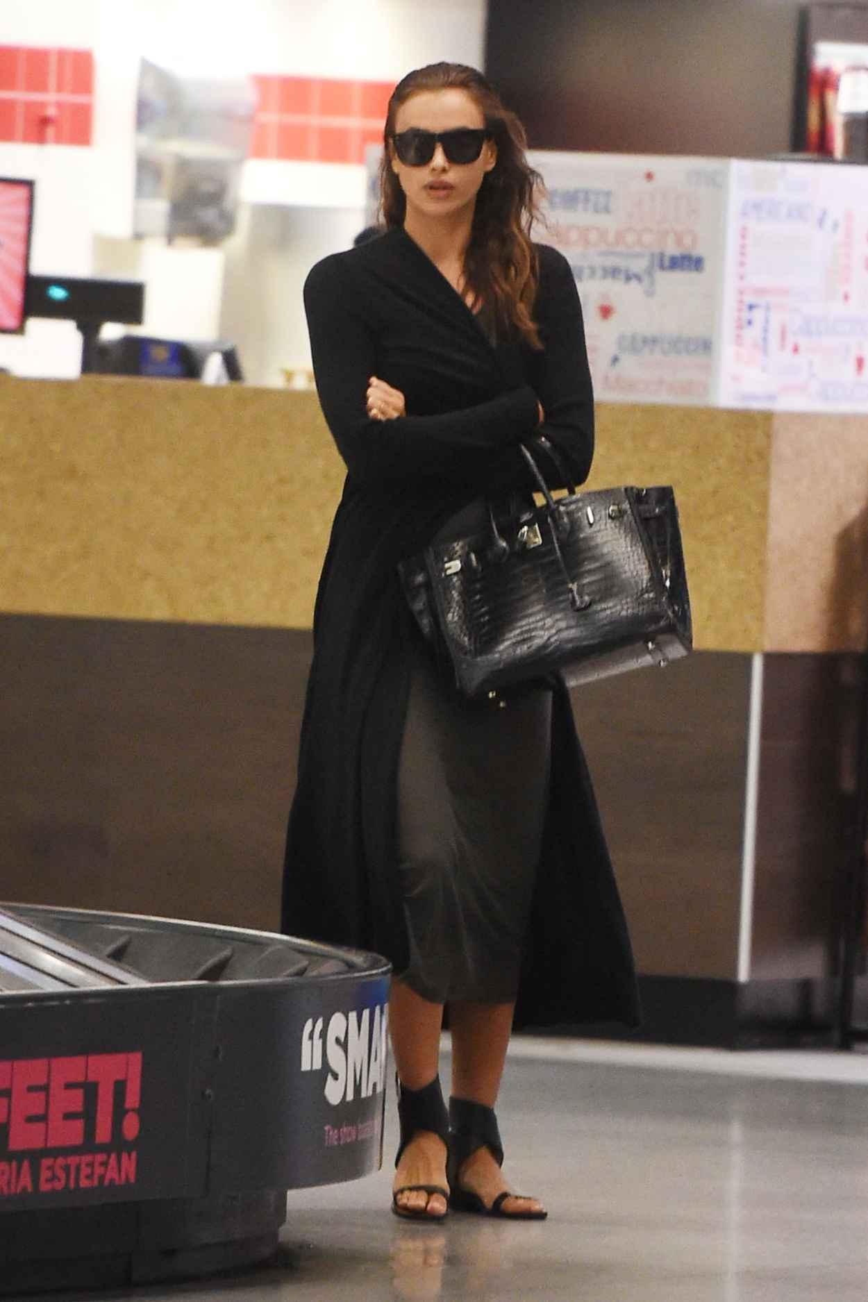 Irina Shayk Airport Style - JFK Airport in NYC, September 2015-2
