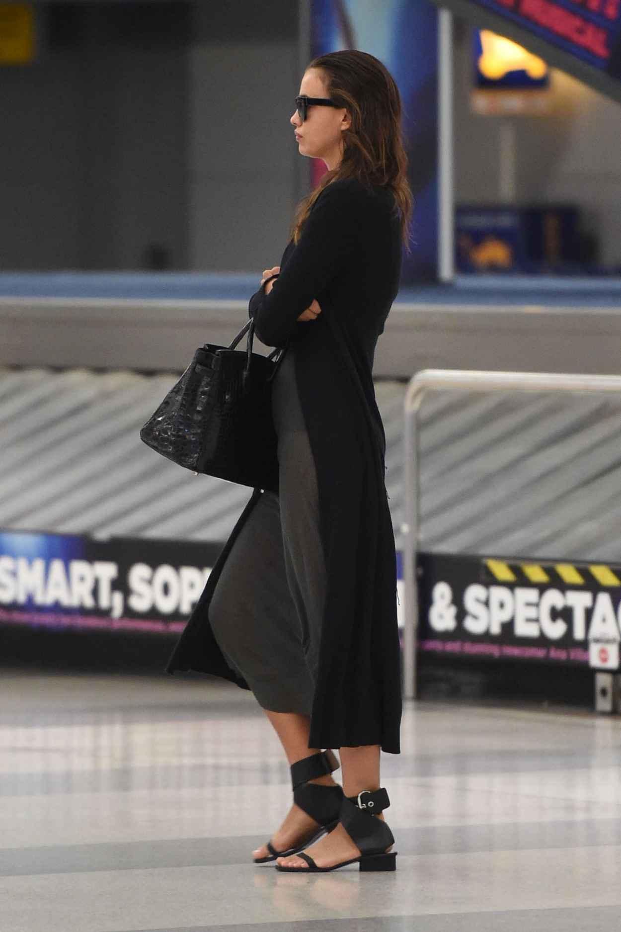 Irina Shayk Airport Style - JFK Airport in NYC, September 2015-3