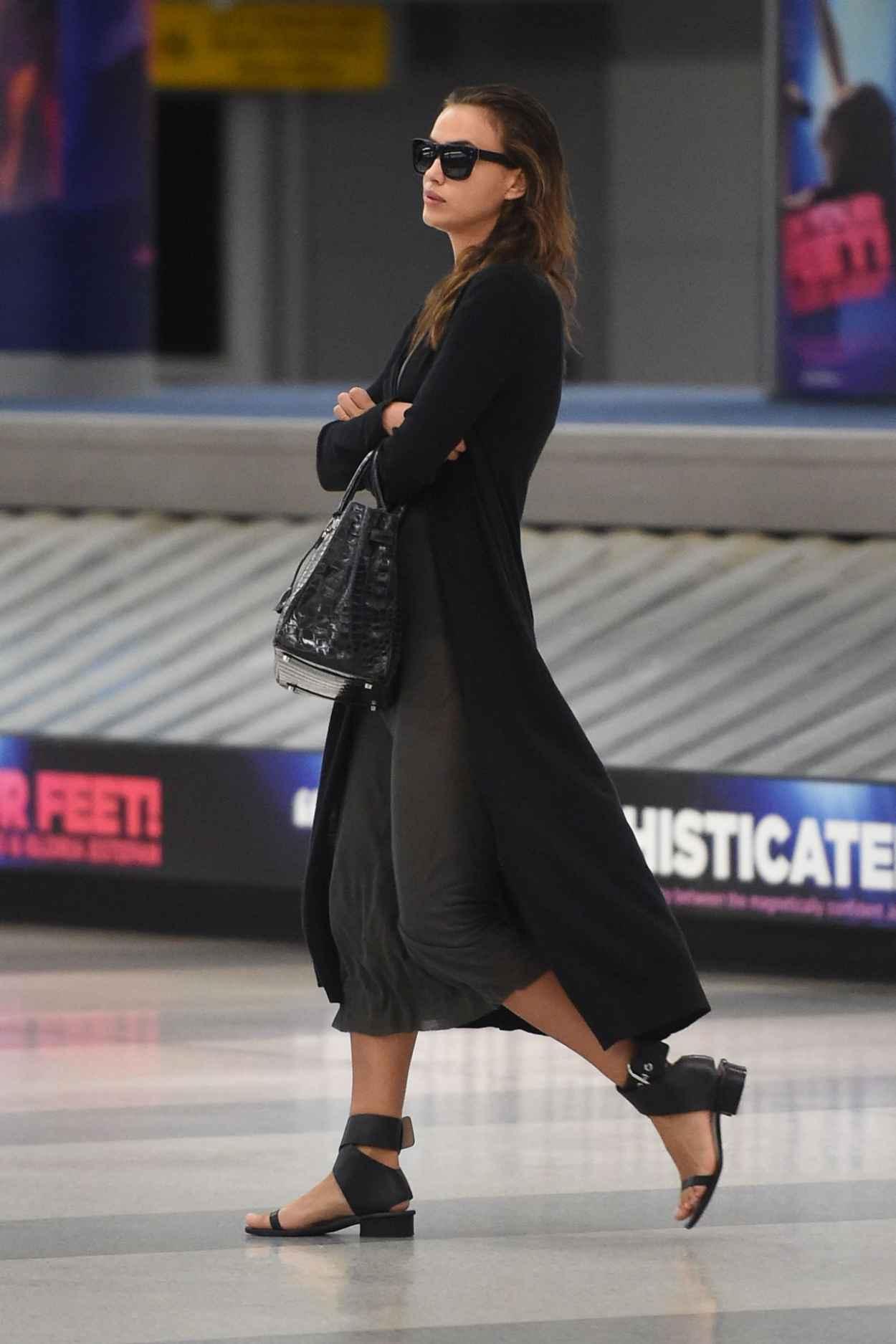 Irina Shayk Airport Style - JFK Airport in NYC, September 2015-4