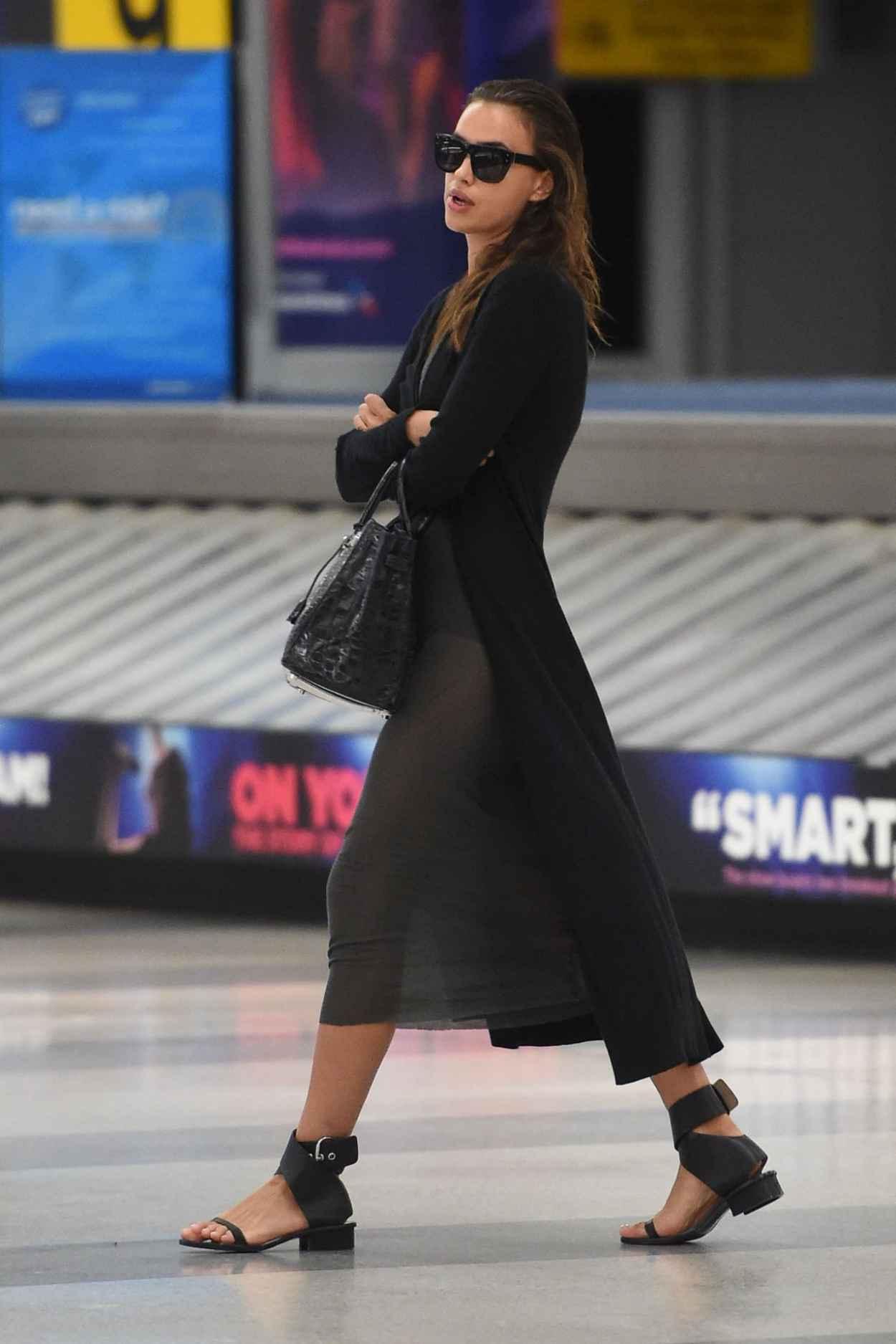 Irina Shayk Airport Style - JFK Airport in NYC, September 2015-5