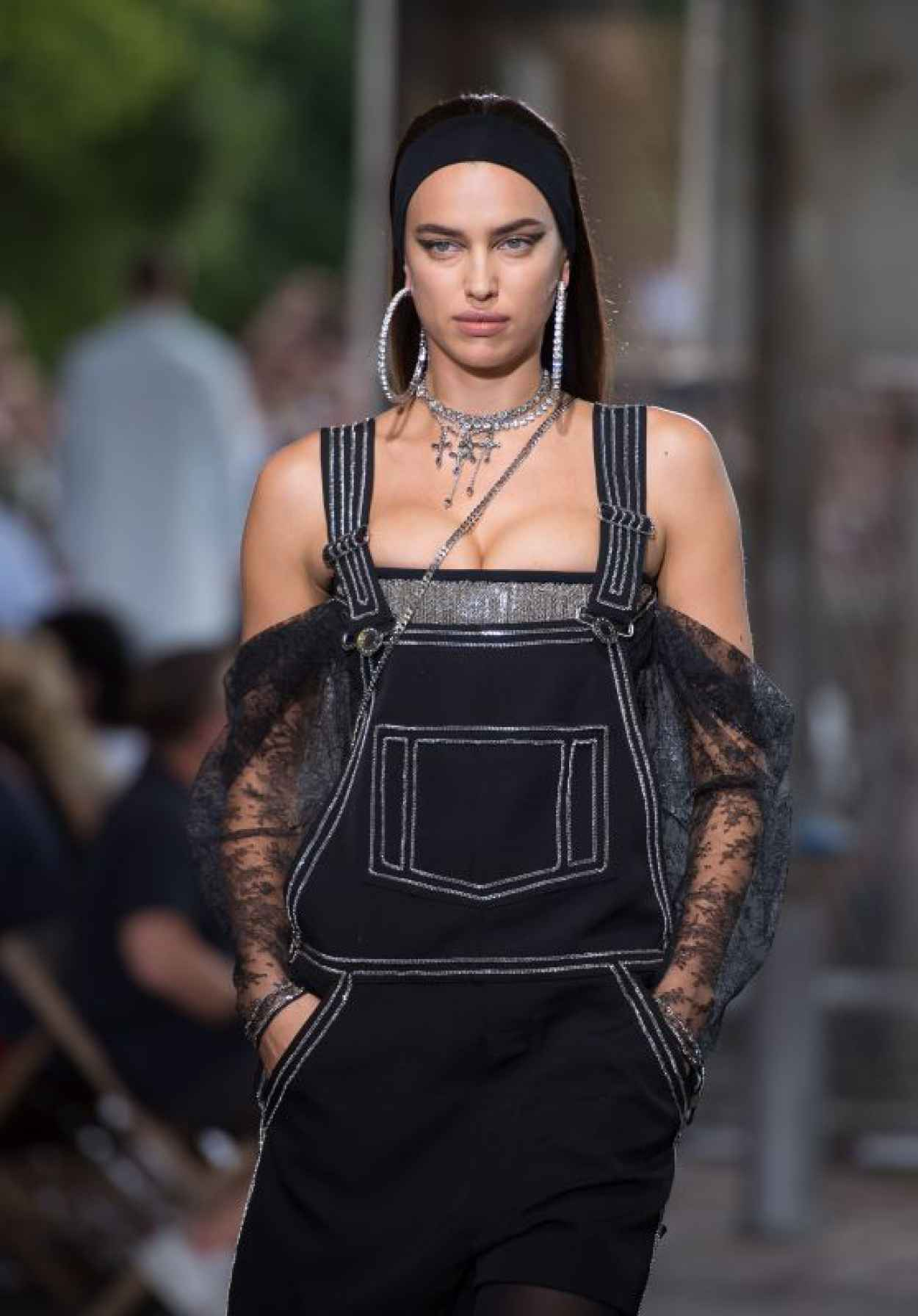 Irina Shayk - Givenchy Fashion Show in Paris, June 2015-1