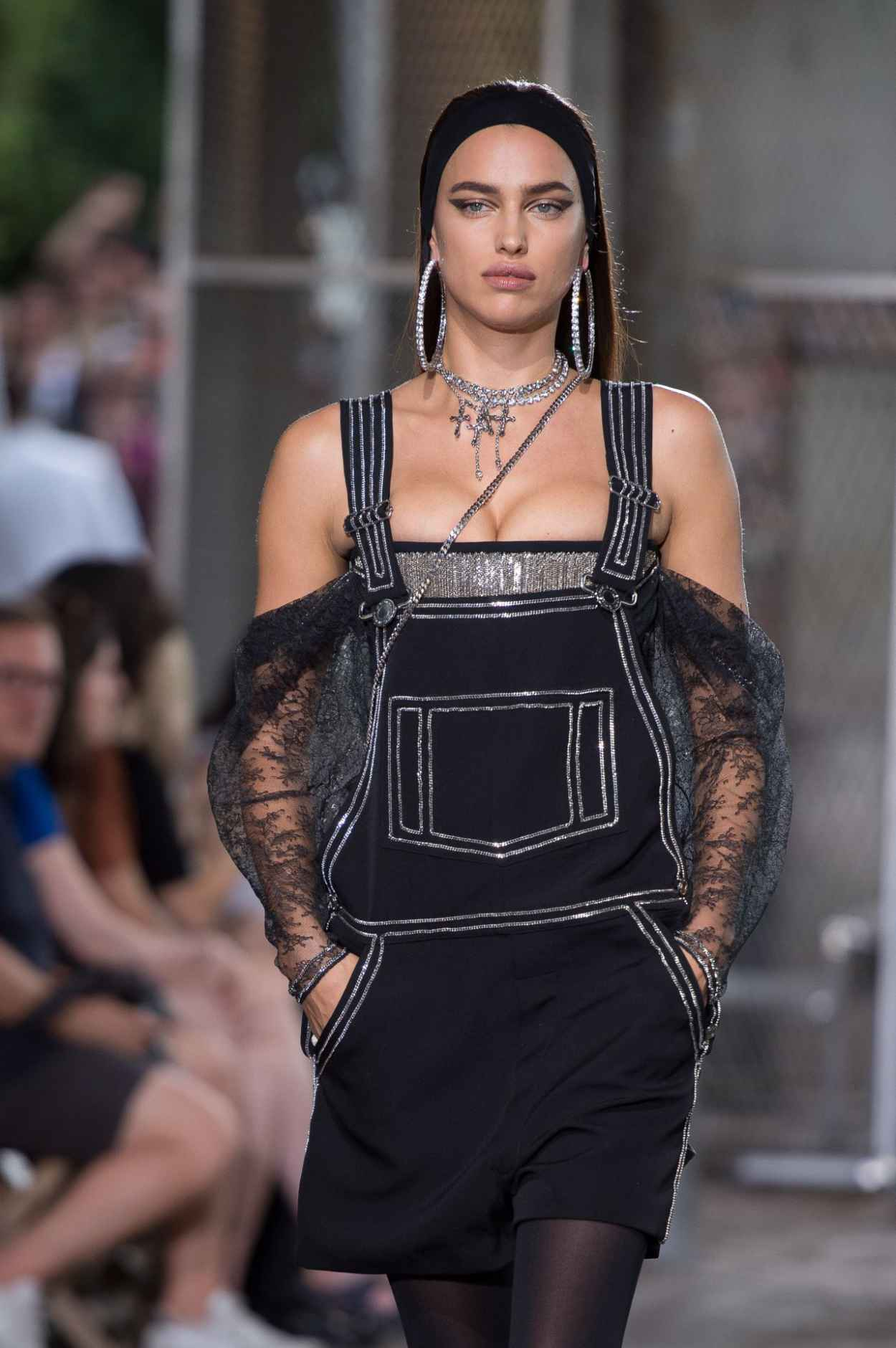 Irina Shayk - Givenchy Fashion Show in Paris, June 2015-5