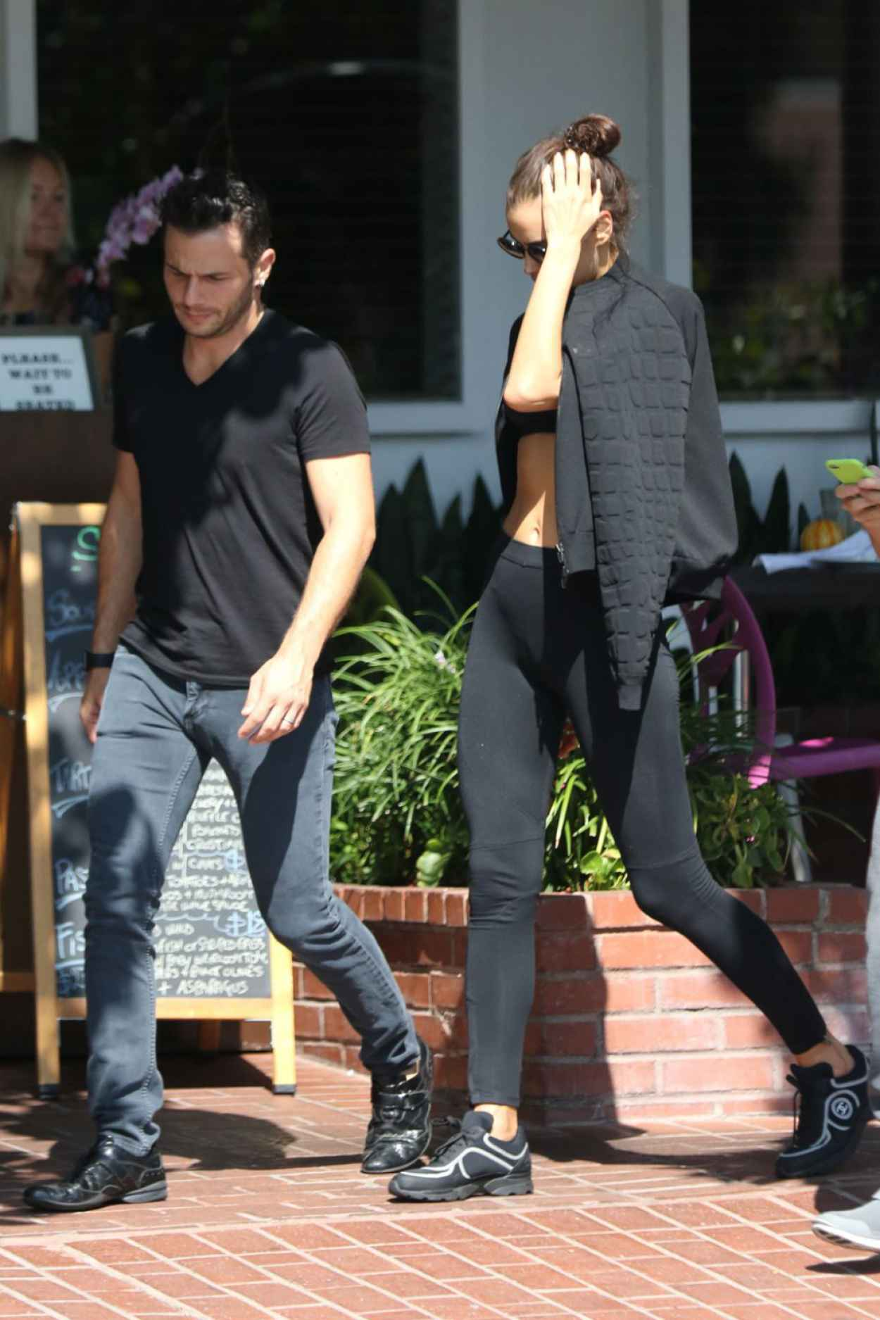 Irina Shayk - Having Lunch at Fred Segal in West Hollywood, October 2015-2