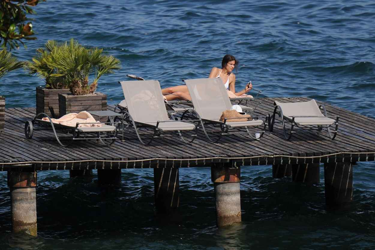Irina Shayk Hot in a Wihite Bikini - Italy, July 2015-2