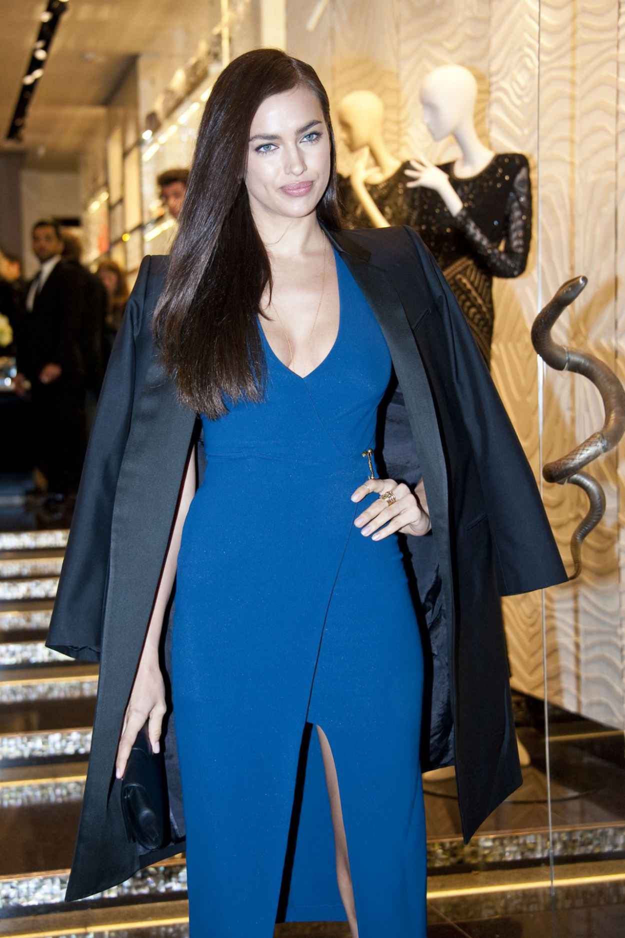 Irina Shayk - Roberto Cavalli Boutique Opening in Milan - February 2015-1