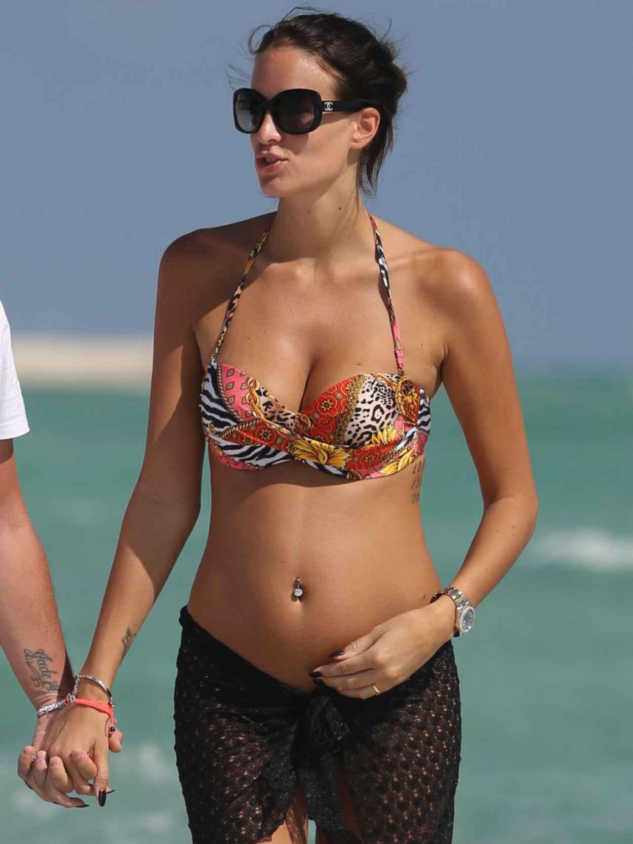 Jade Foret Pregnant in a Bikini - Miami Beach-1