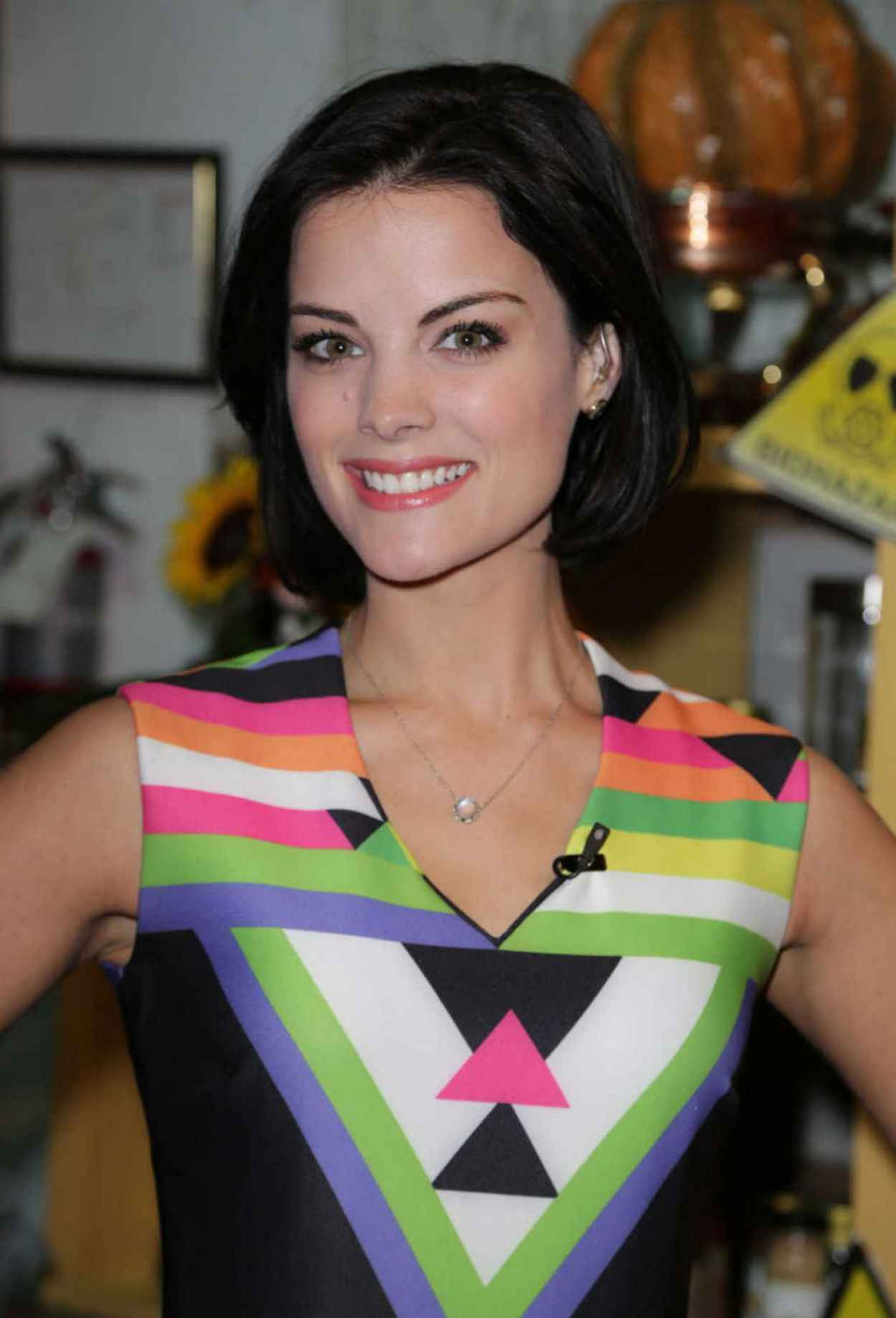 Jaimie Alexander On The Set Of Univisions Despierta America in Miami-1