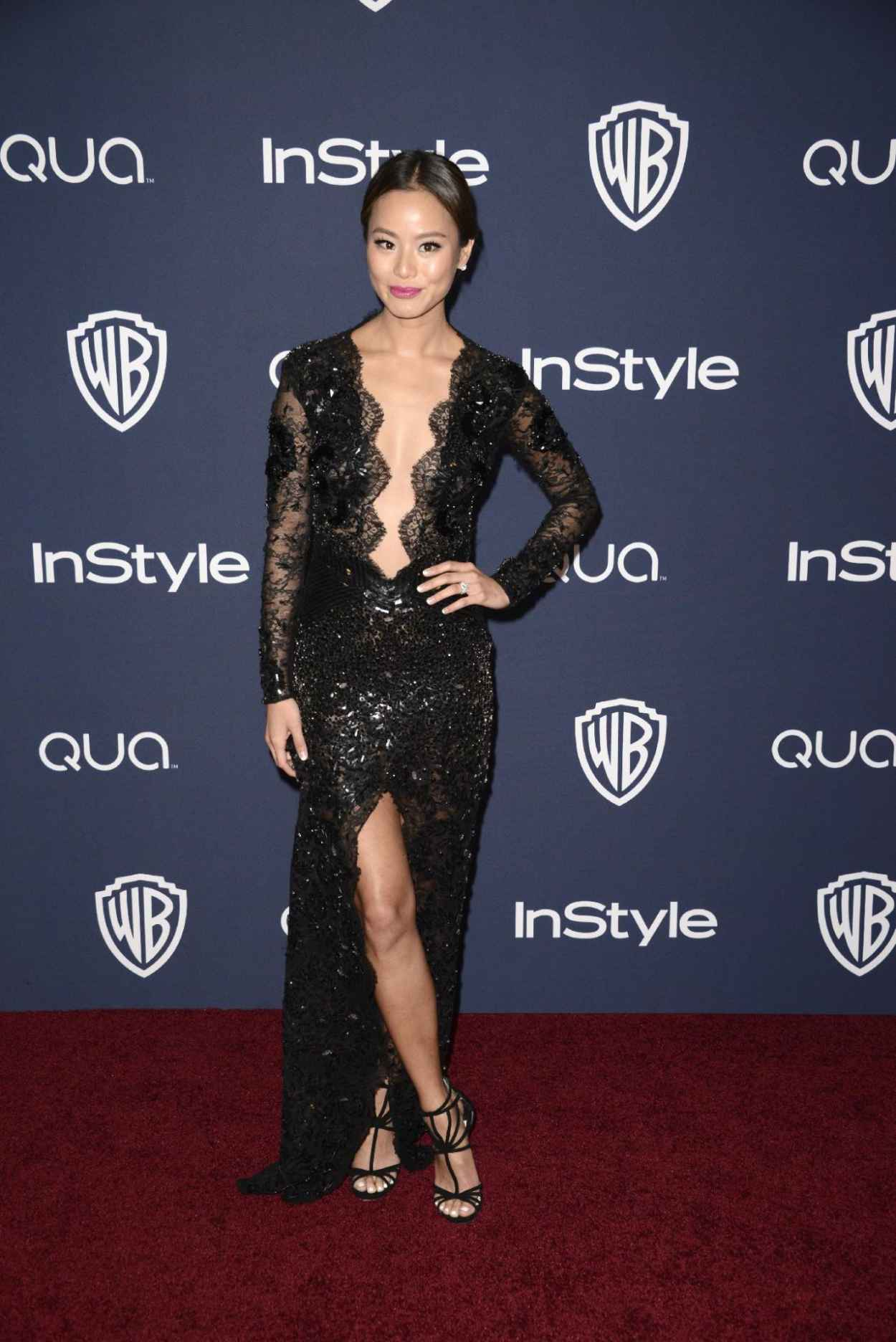 Jamie Chung - InStyle & Warner Bros. 2015 Golden Globes Party-1