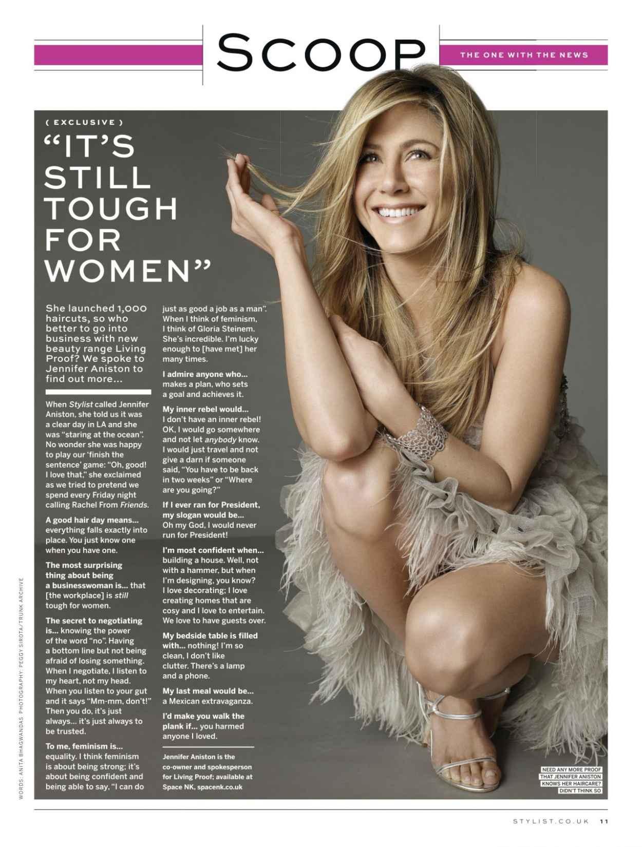Jennifer Aniston - STYLIST Magazine - November 2015 Issue-1