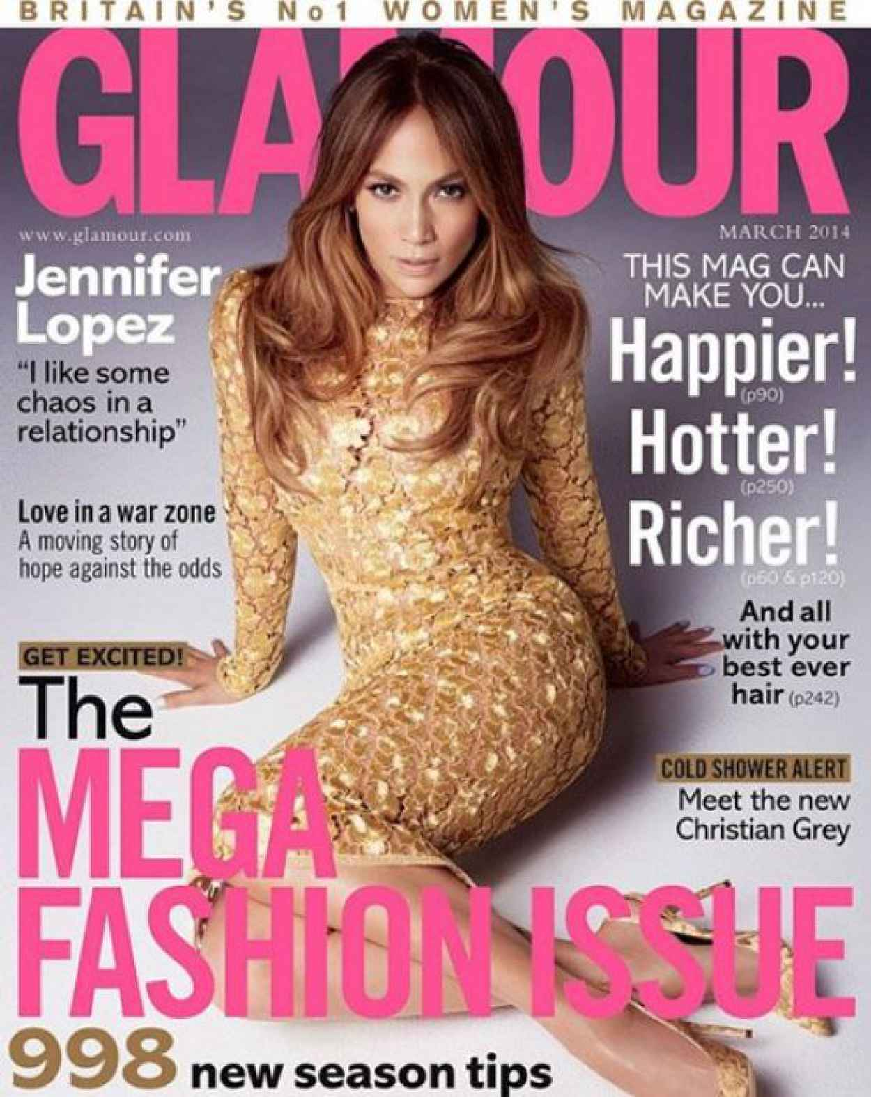 Jennifer Lopez - GLAMOUR Magazine (UK) - March 2015 Issue-1