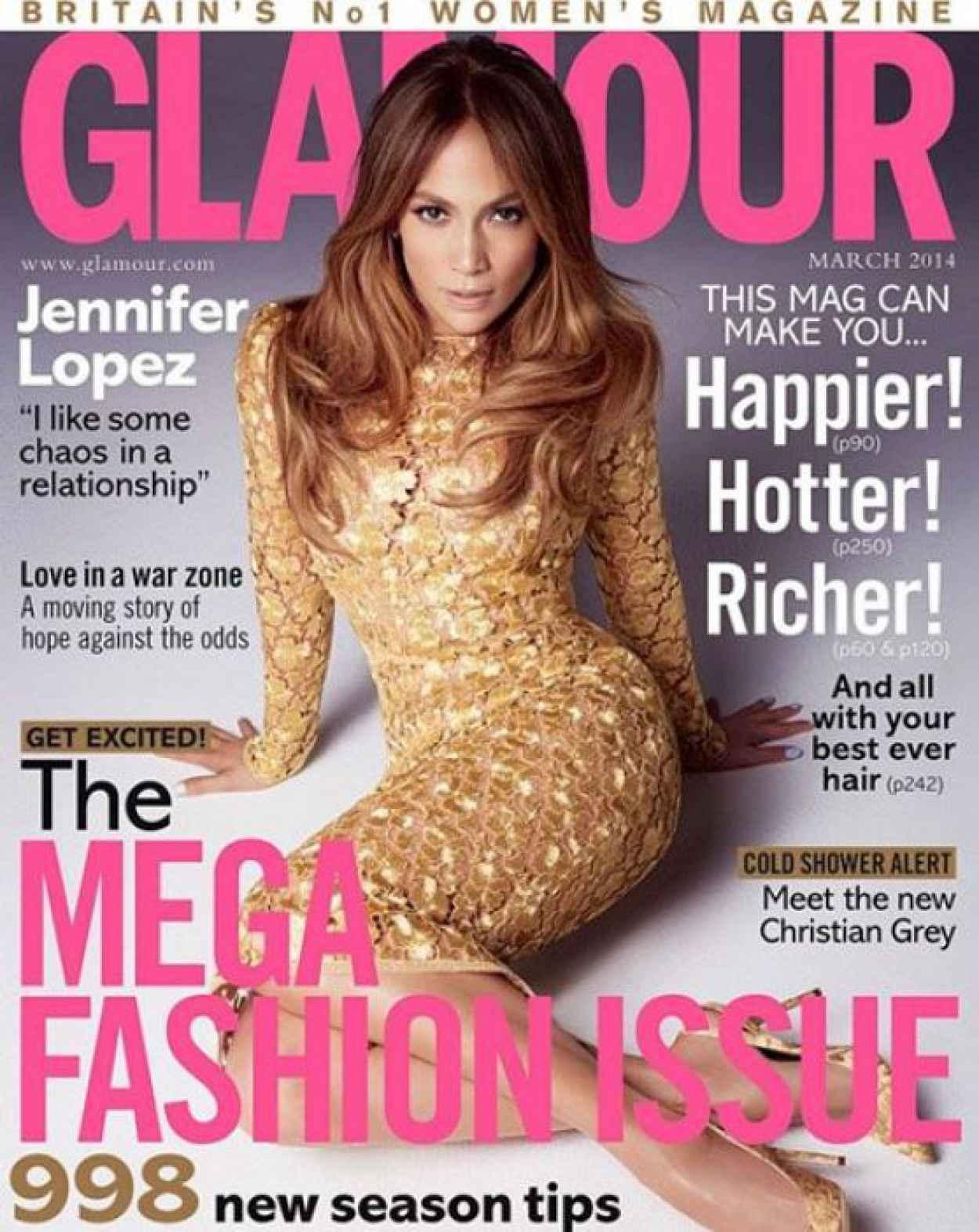 Jennifer Lopez - GLAMOUR Magazine (UK) - March 2015 Issue-1