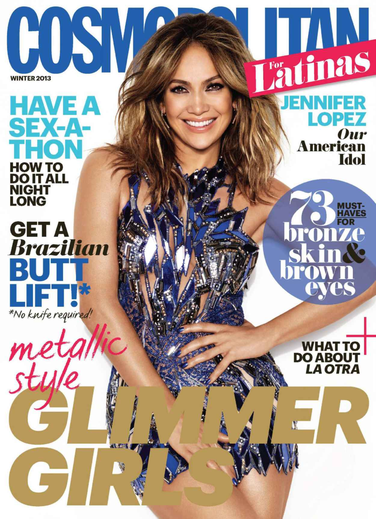 Jennifer Lopez - Leggy, Cosmo for Latinas Winter 2015 Issue-1