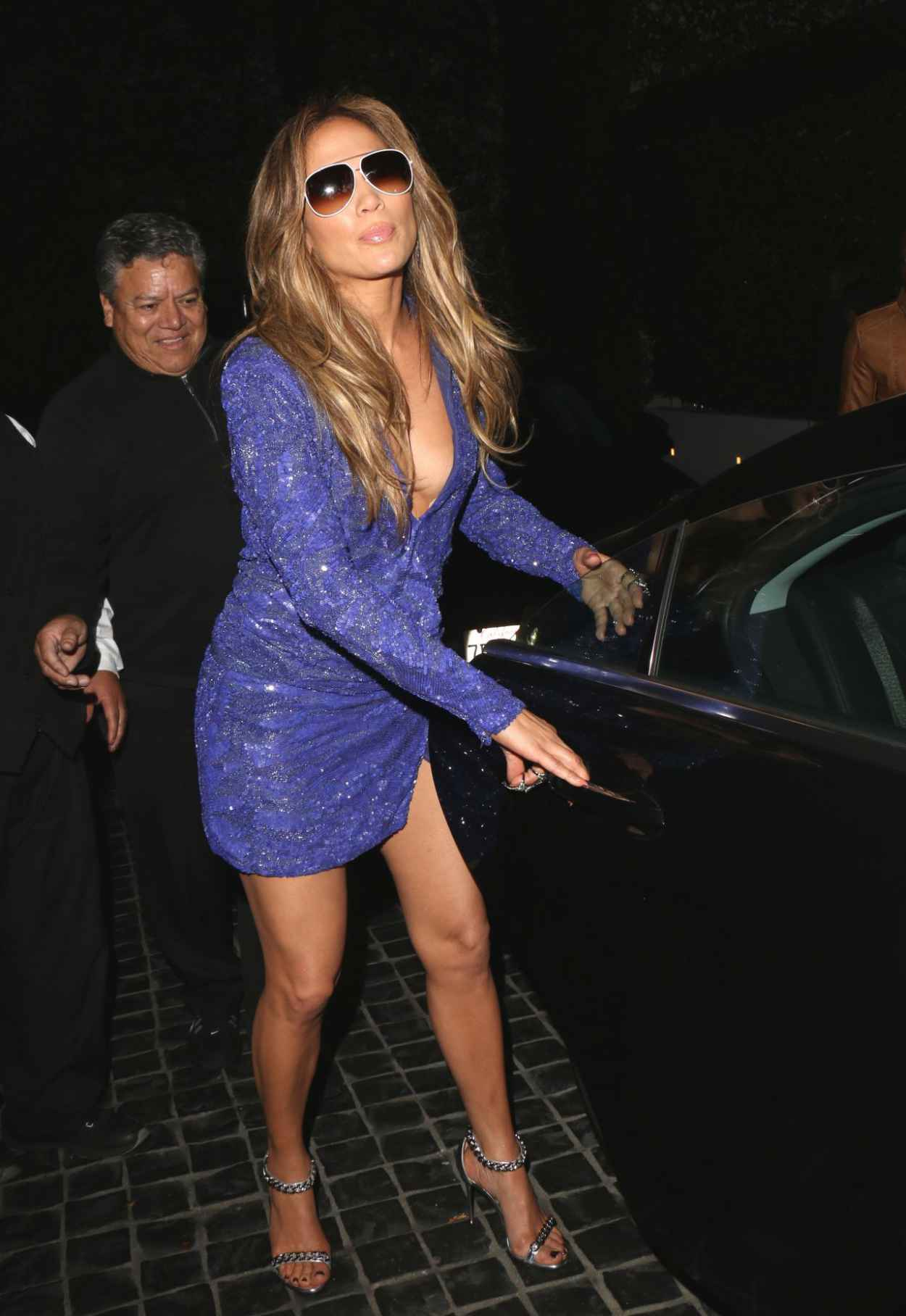 Jennifer Lopez Night Out Style - Leaves Cecconis in West Hollywood, February 2015-2