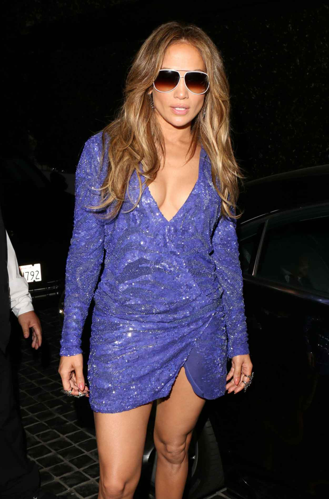 Jennifer Lopez Night Out Style - Leaves Cecconis in West Hollywood, February 2015-4