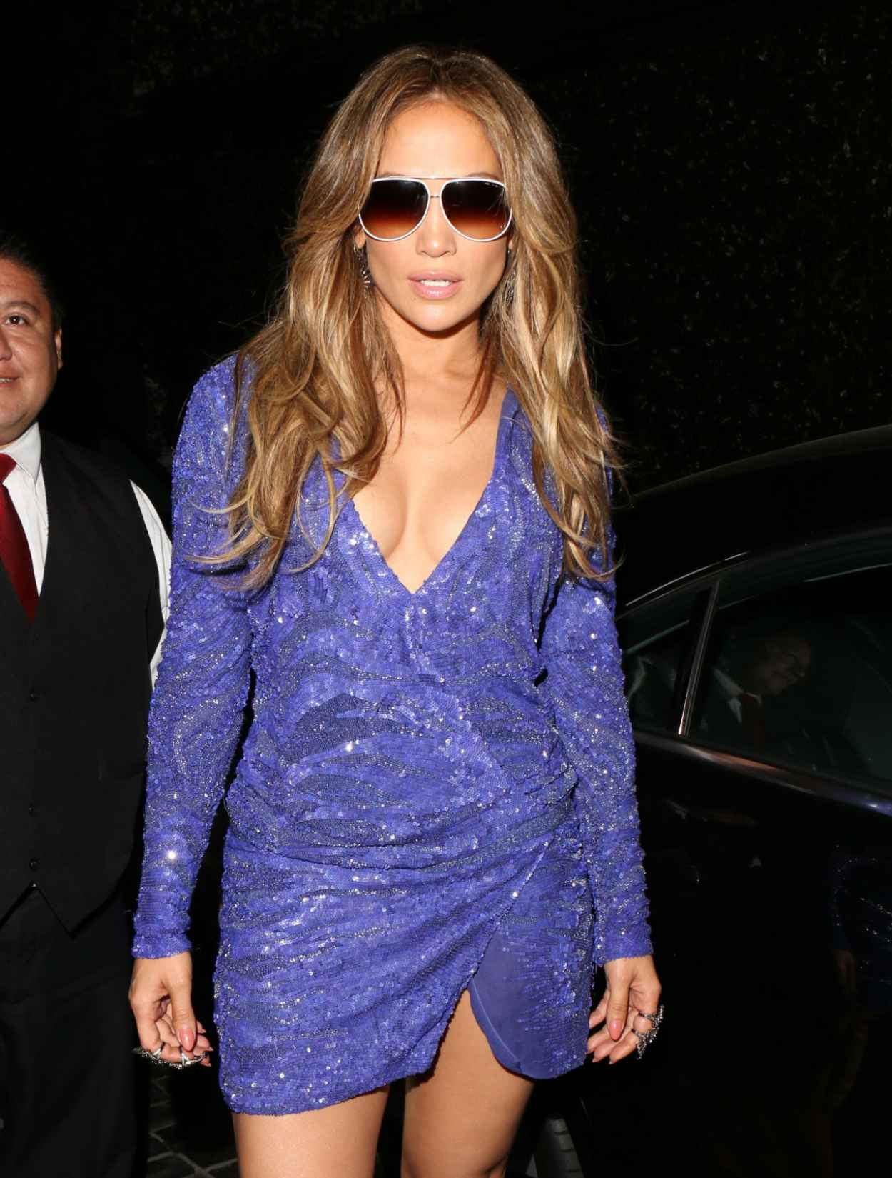 Jennifer Lopez Night Out Style - Leaves Cecconis in West Hollywood, February 2015-5