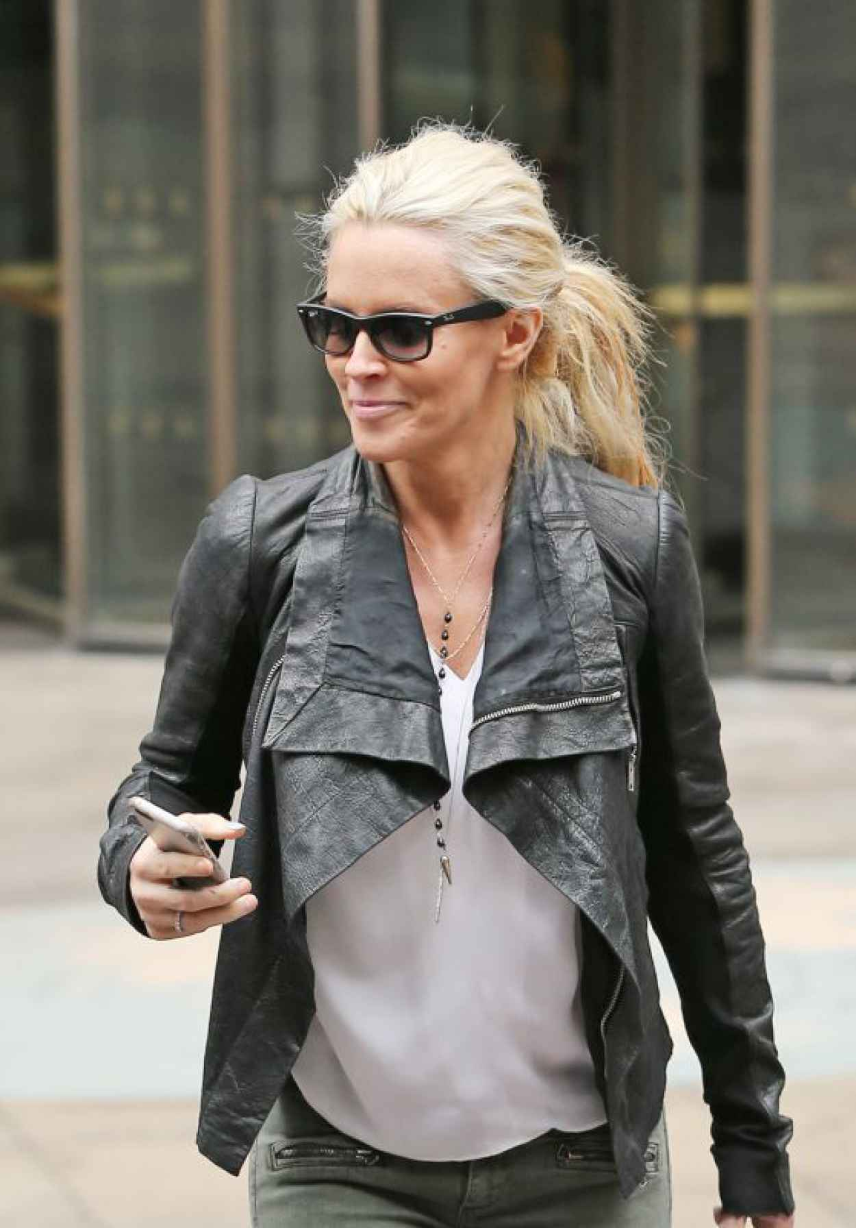 Jenny McCarthy - Leaving SiriusXM in New York City, April 2015-1