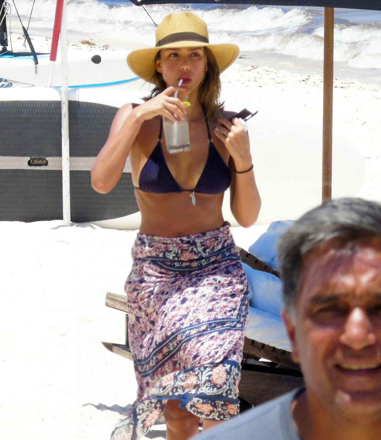 Jessica Alba Wearing a Bikini at a Beach in Cancun, August 2015-2