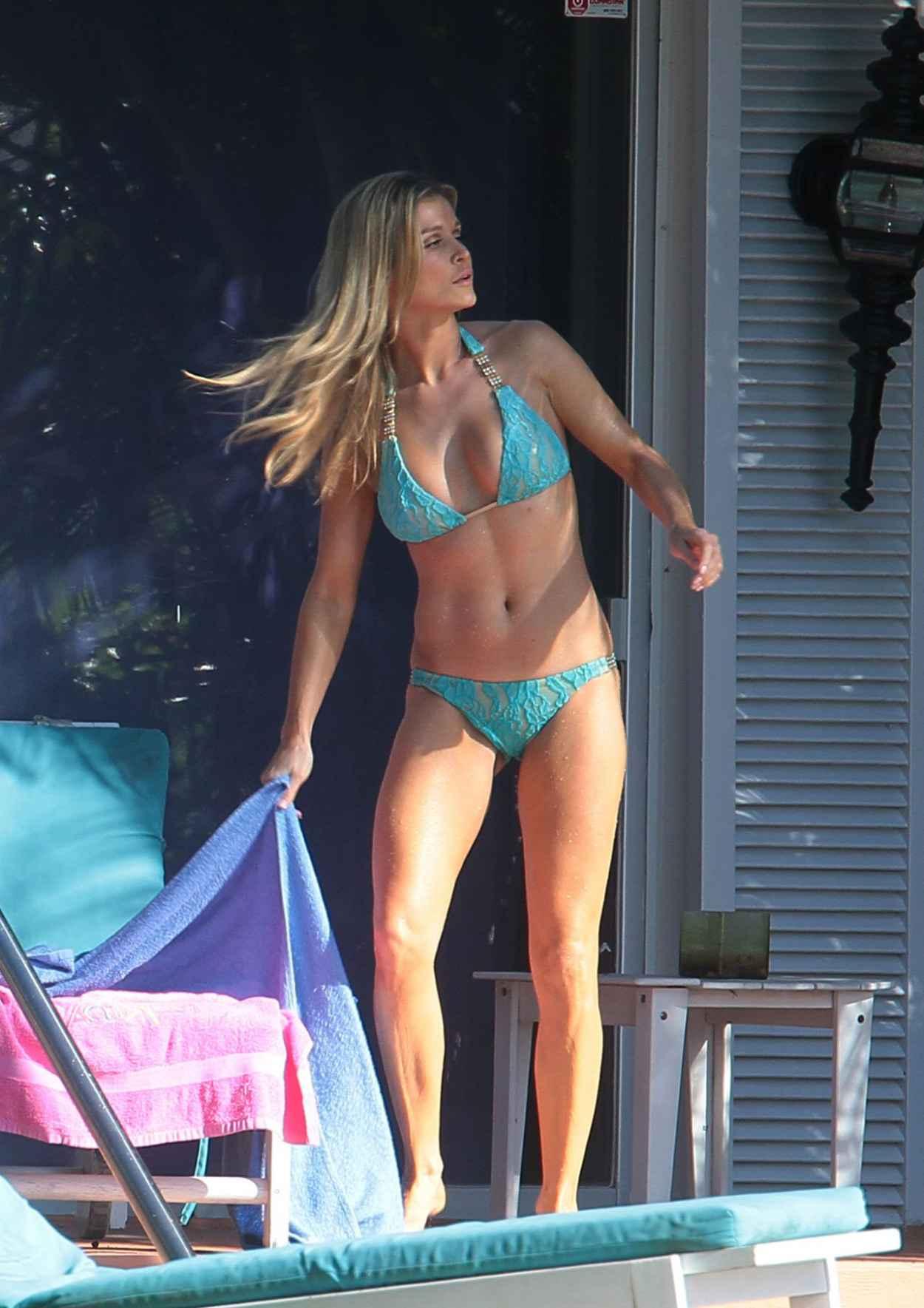 Joanna Krupa Hot in Bikini - Poolside, Miami February 2015-1