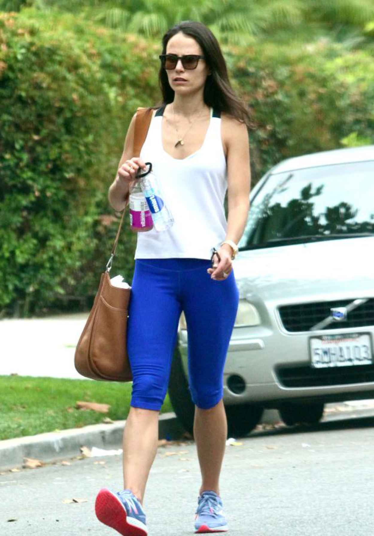 Jordana Brewster - Going to a Gym in West Hollywood, August 2015-1