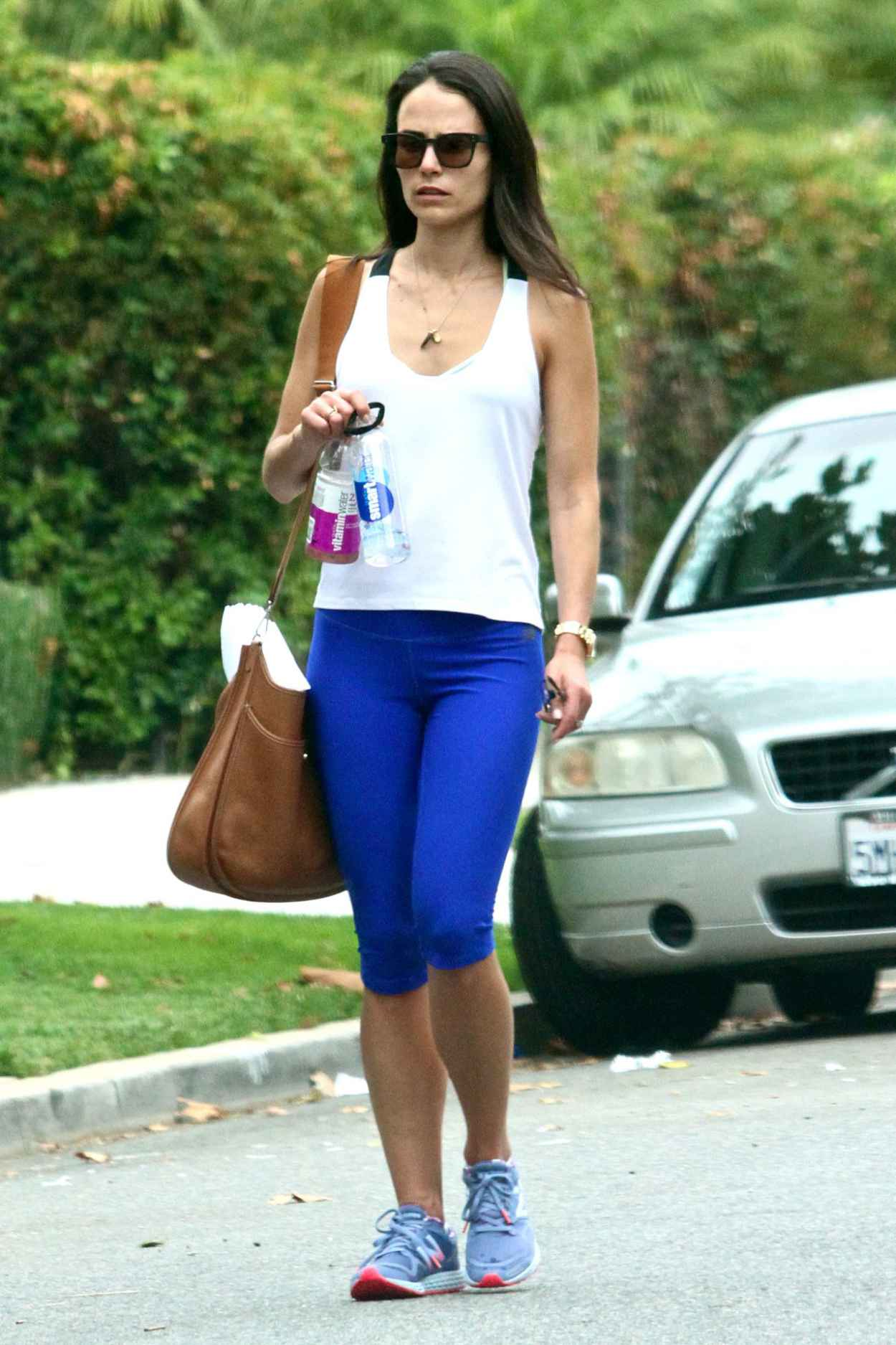 Jordana Brewster - Going to a Gym in West Hollywood, August 2015-5