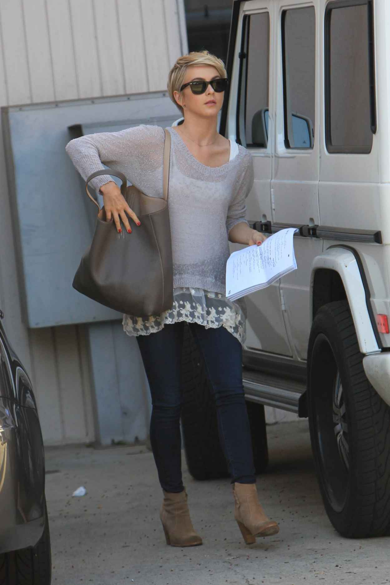 Julianne Hough Street Style - Heads to a Meeting, Los Angeles, February 2015-1