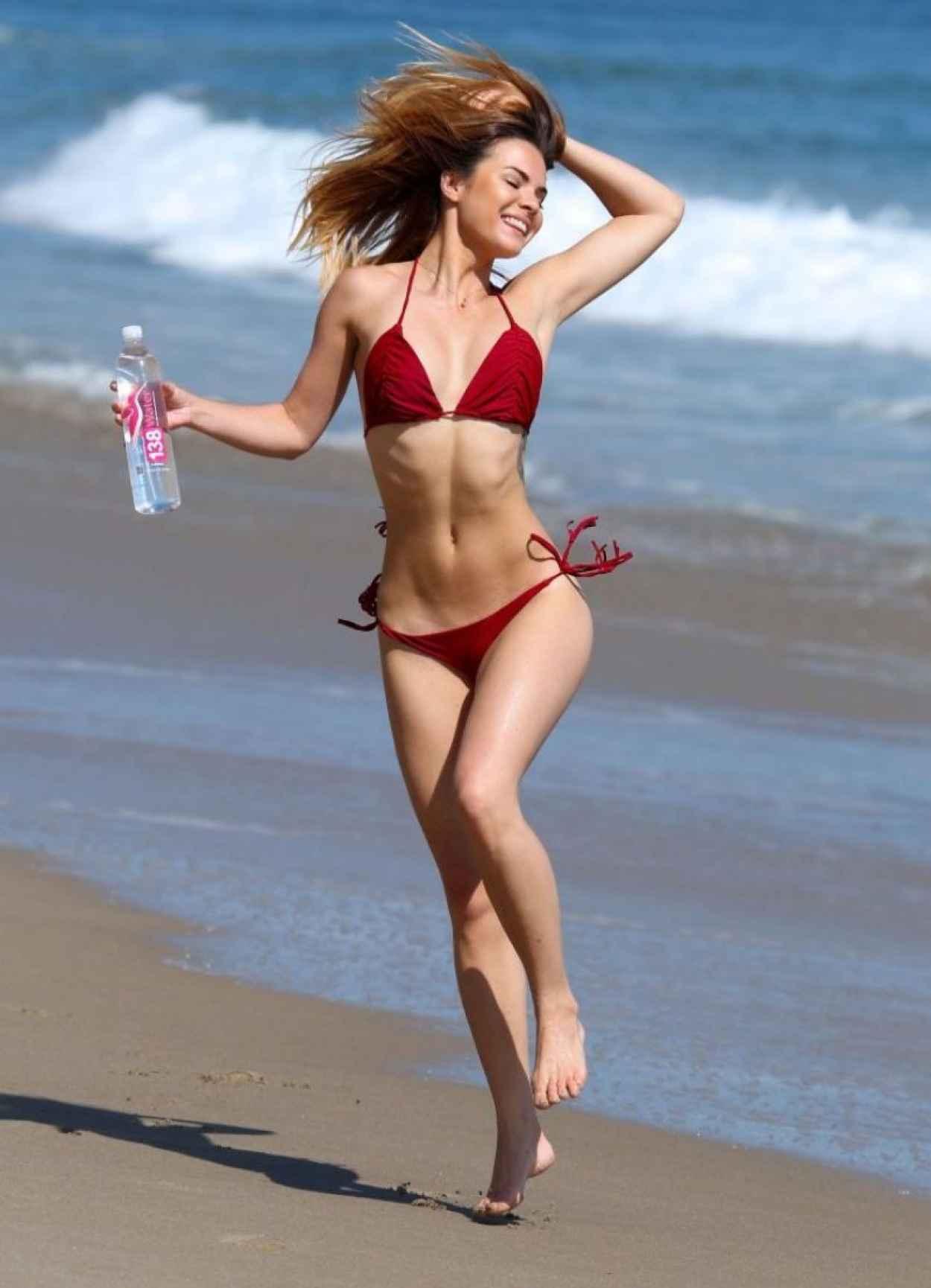Kaili Thorne in a Red BIkini - 138 Water Photoshoot in Malibu, June 2015-3
