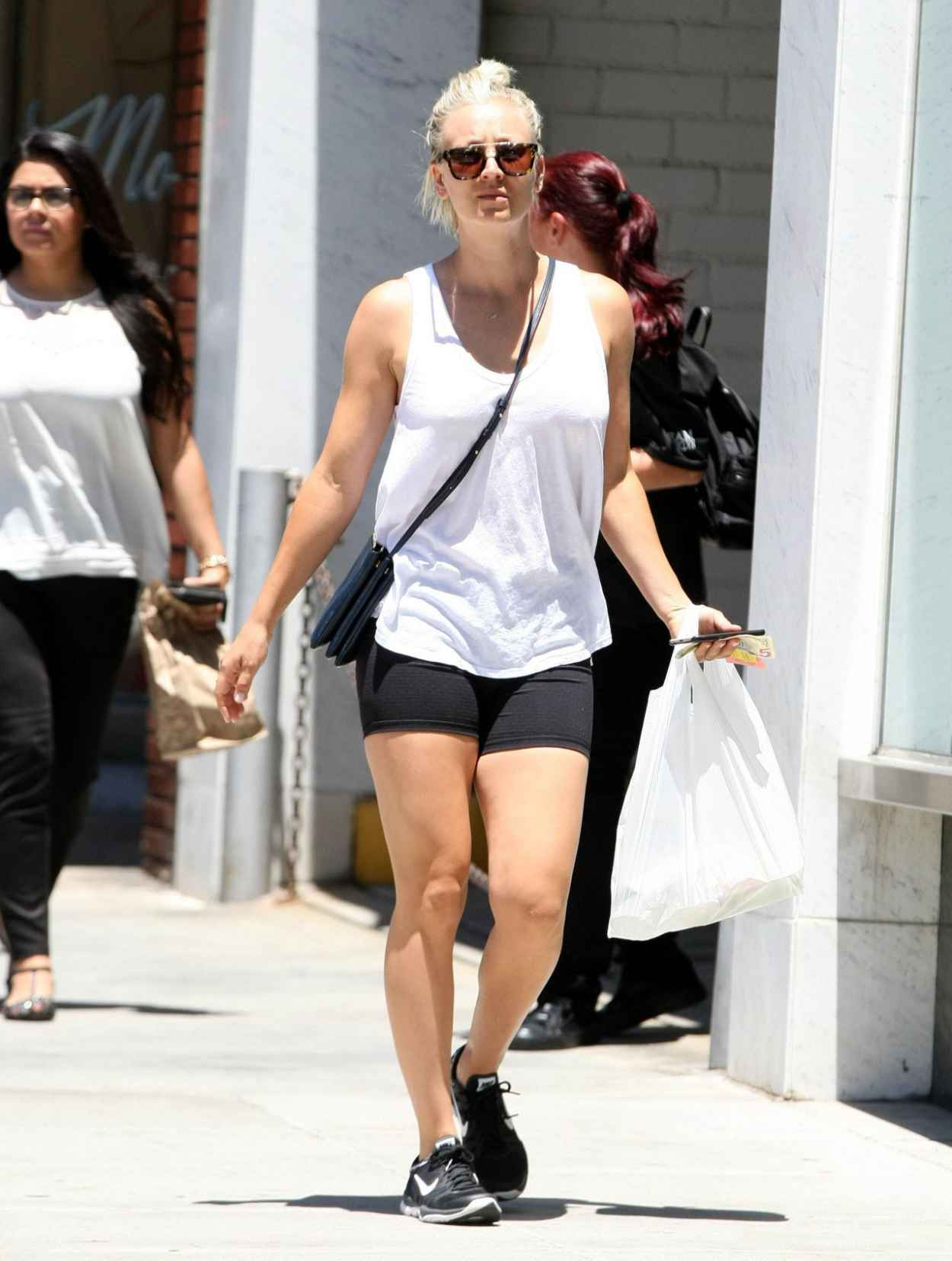 Kaley Cuoco in Shorts - Out and About in Beverly Hills, July 2015-4