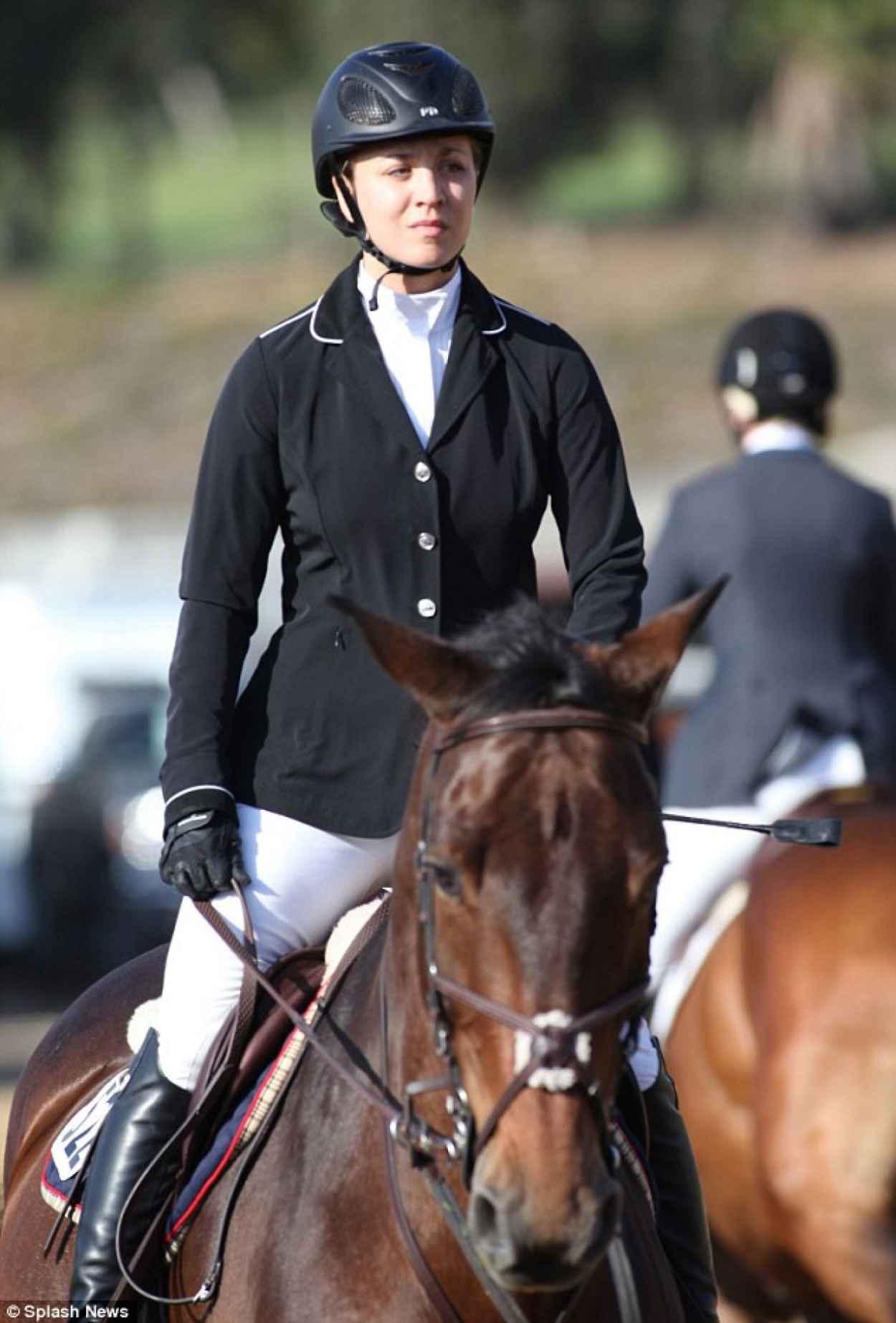 Kaley Cuoco Riding Her Horse -  afia-1