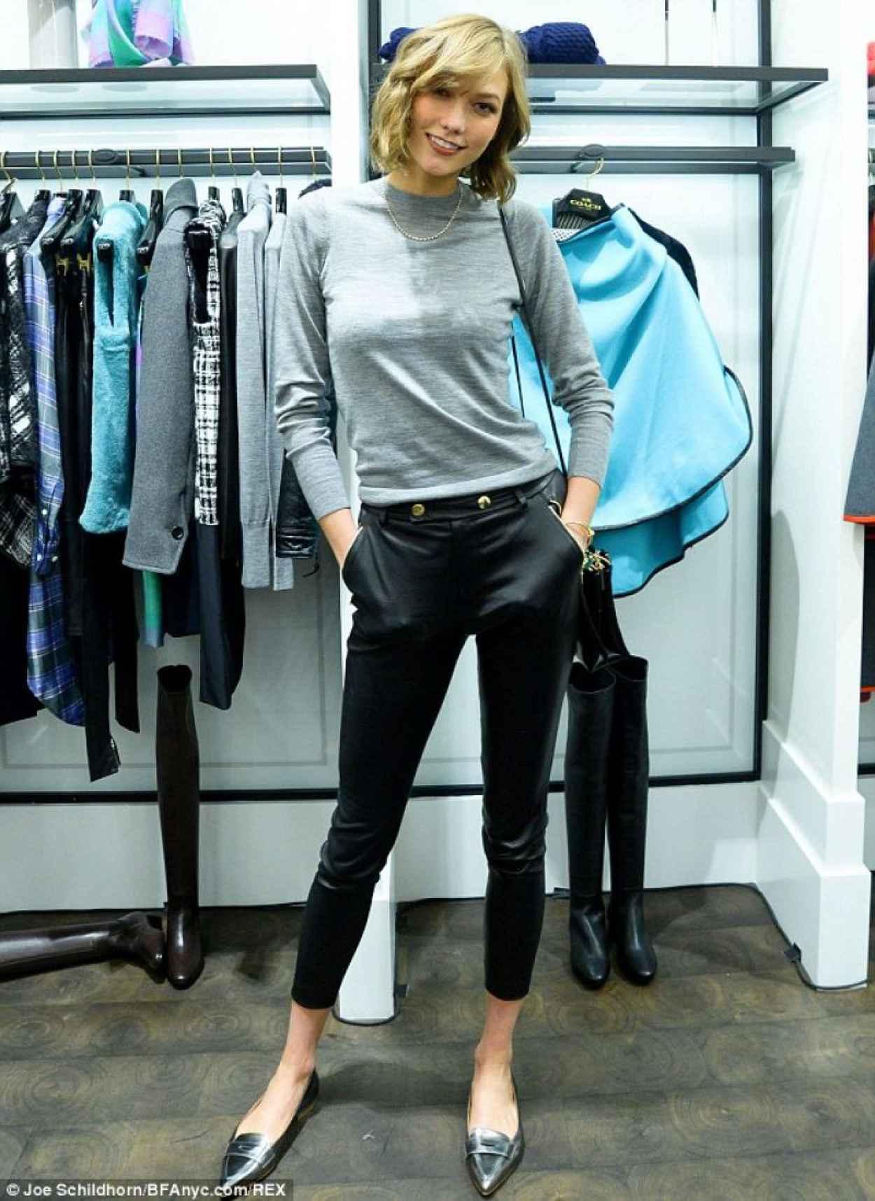 Karlie Kloss - COACH & LUCKY Magazine Q&A in New York City-1