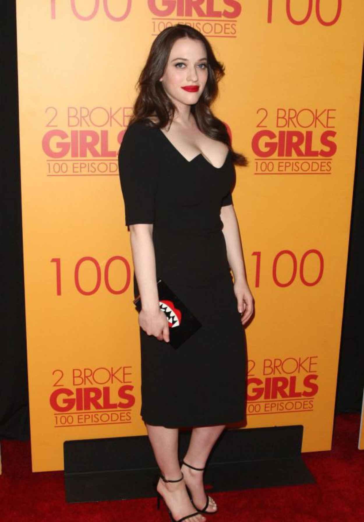 Kat Dennings - 2 Broke Girls 100th Episode Celebration in Los Angeles-1