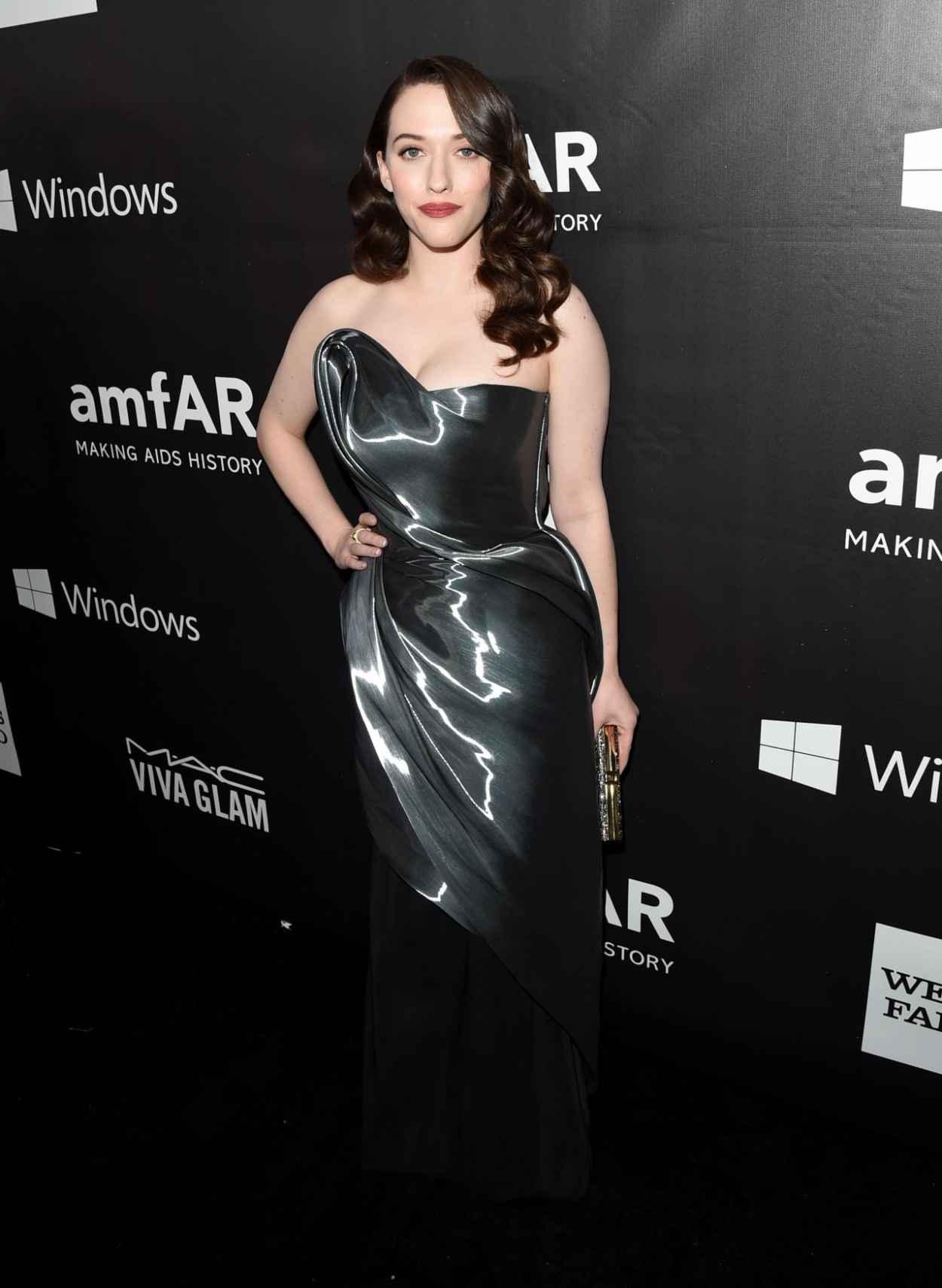 Kat Dennings - 2015 amfAR LA Inspiration Gala in Hollywood-1