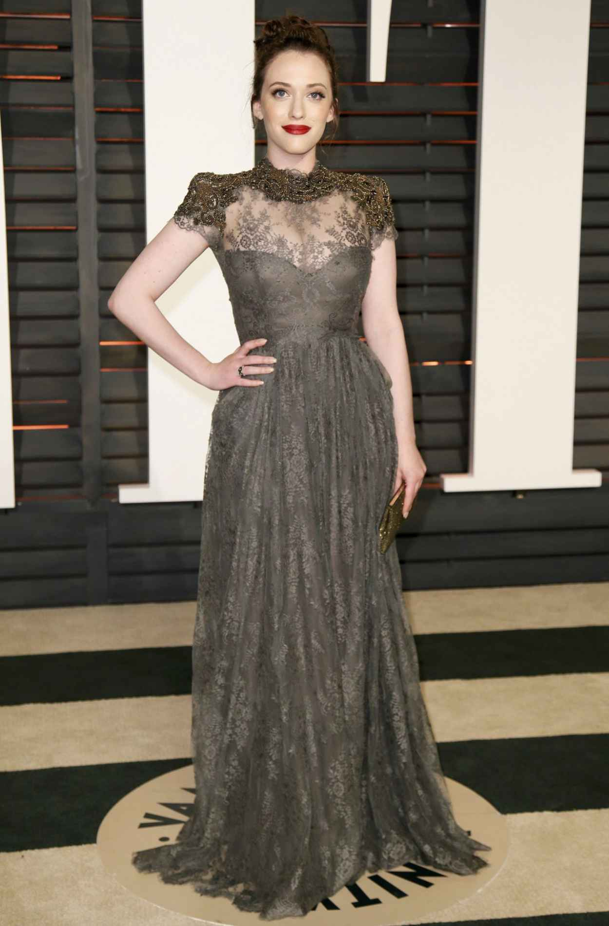 Kat Dennings - 2015 Vanity Fair Oscar Party in Hollywood-1