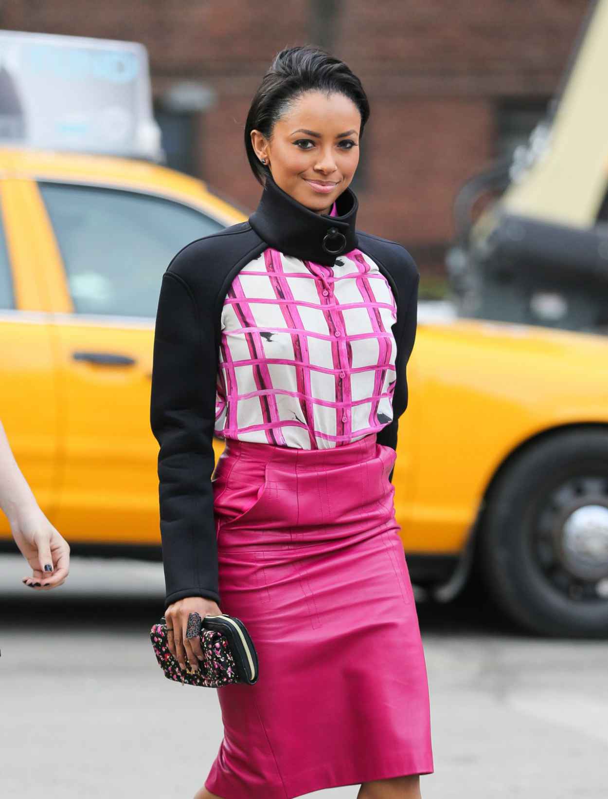 Kat Graham - Arriving at the Lincoln Center During New York Fashion Week - Fe. 2015-1