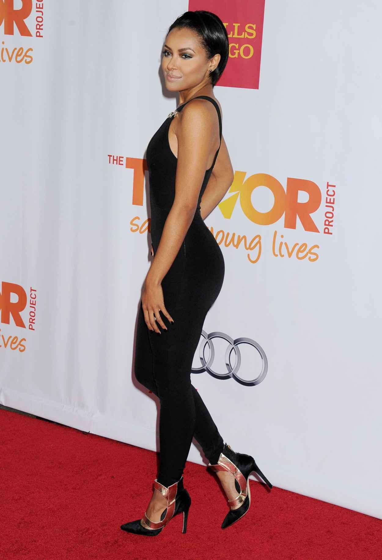 Kat Graham on Red Carpet - Trevor Project-s 2015 TrevorLIVE LA Event - Hollywood-1