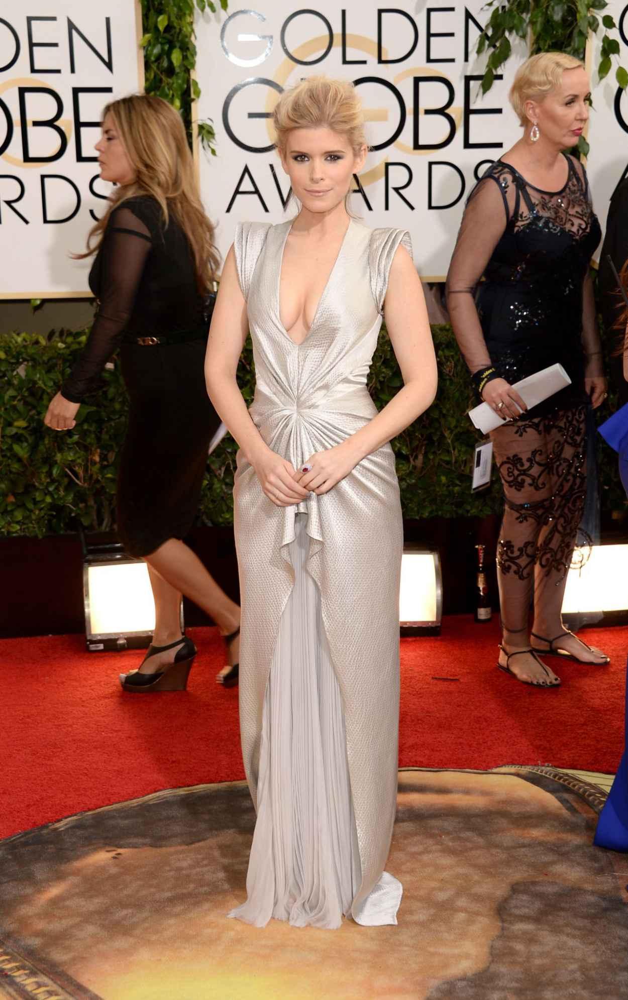 Kate Mara Wears J. Mendel at 71st Annual Golden Globe Awards in Beverly Hills (2014)-1
