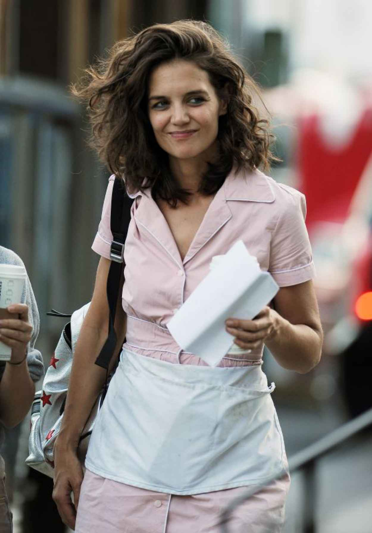 Katie Holmes - All We Had Set Photos - NYC, August 2015-1