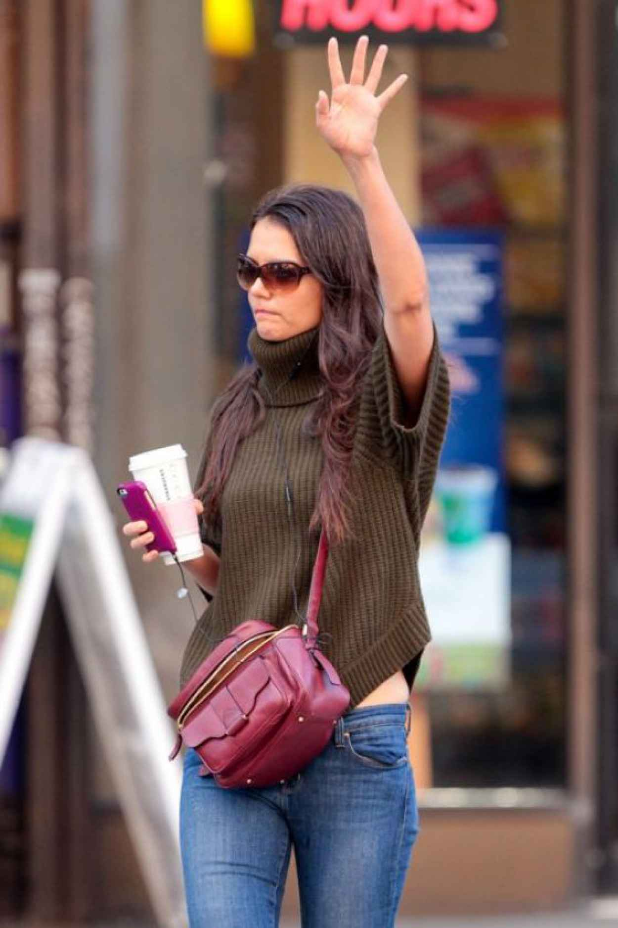 katie holmes street style � in new york city � october