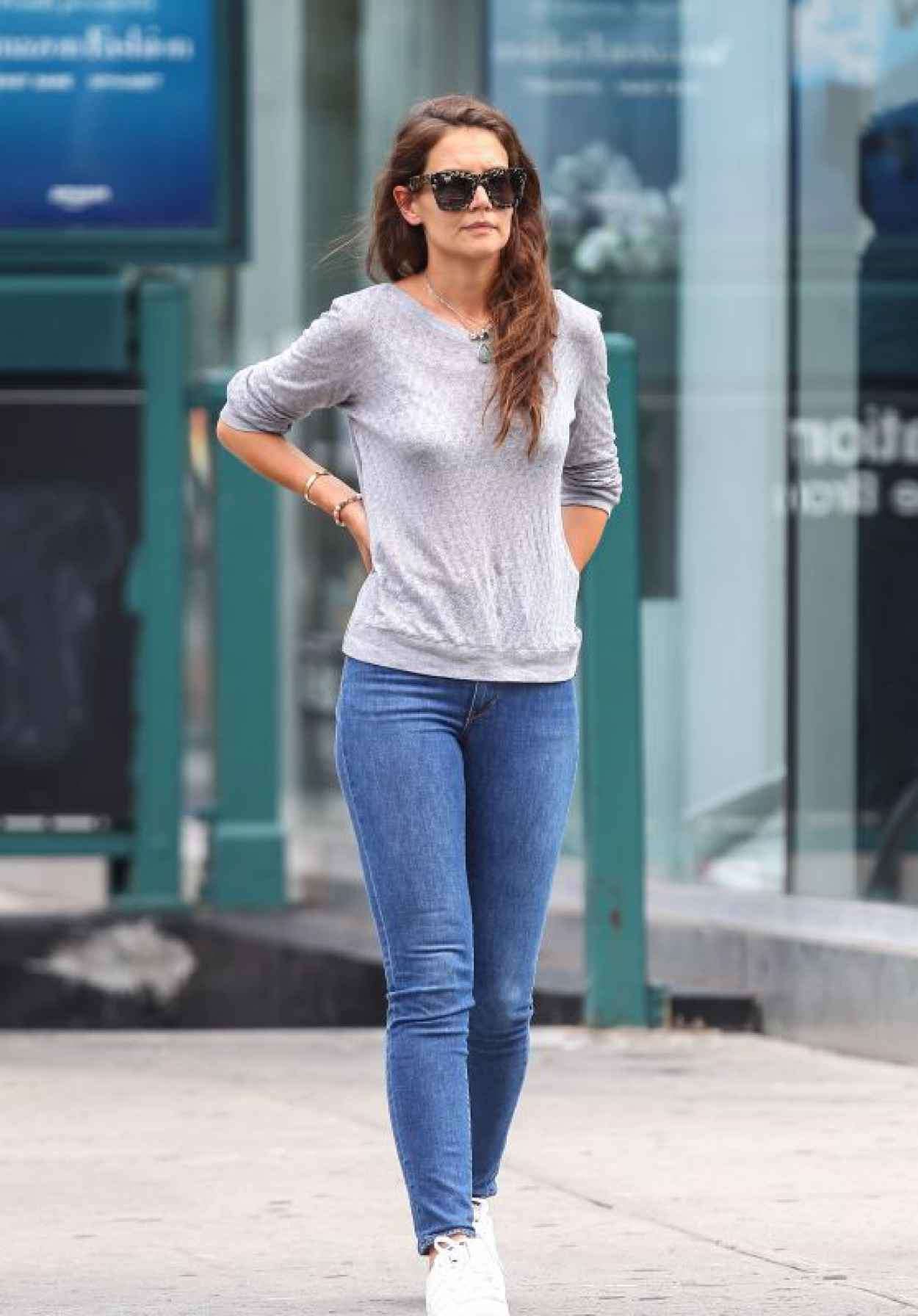Katie Holmes Tight in Jeans - Out in NYC, July 2015-1