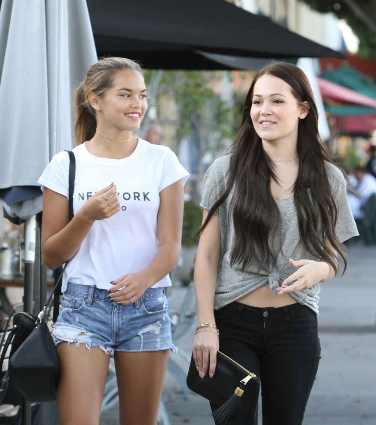 Kelli Berglund & Paris Berelc - Shopping in Los Angeles, September 2015-2