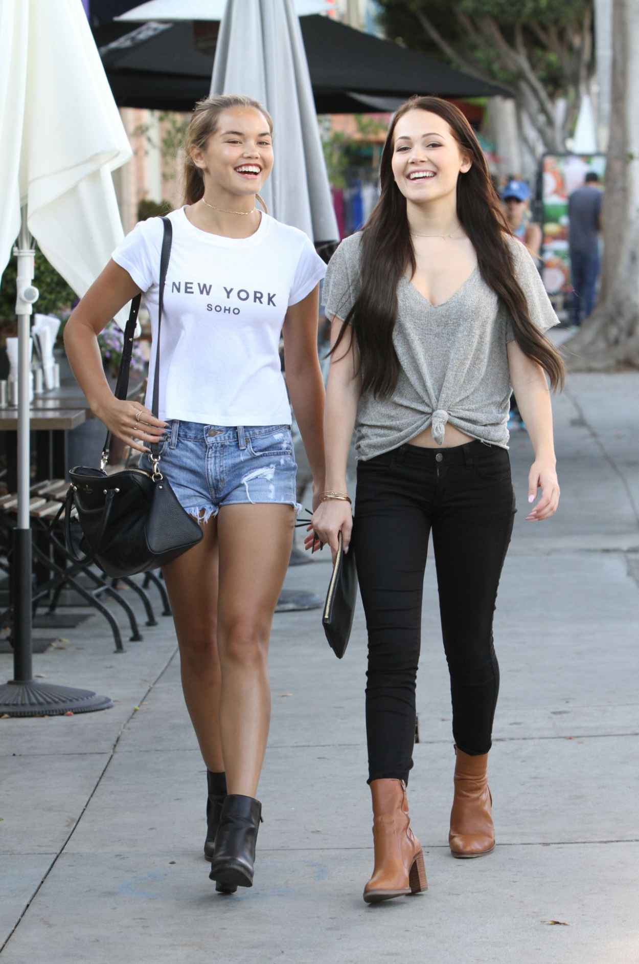 Kelli Berglund & Paris Berelc - Shopping in Los Angeles, September 2015-5