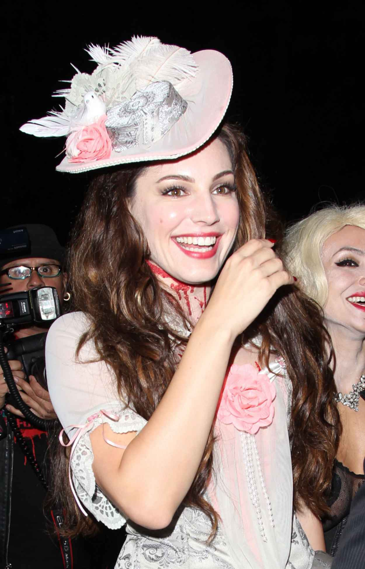 Kelly Brook as Marie Antoinette leaving a Halloween party in Beverly Hills-1