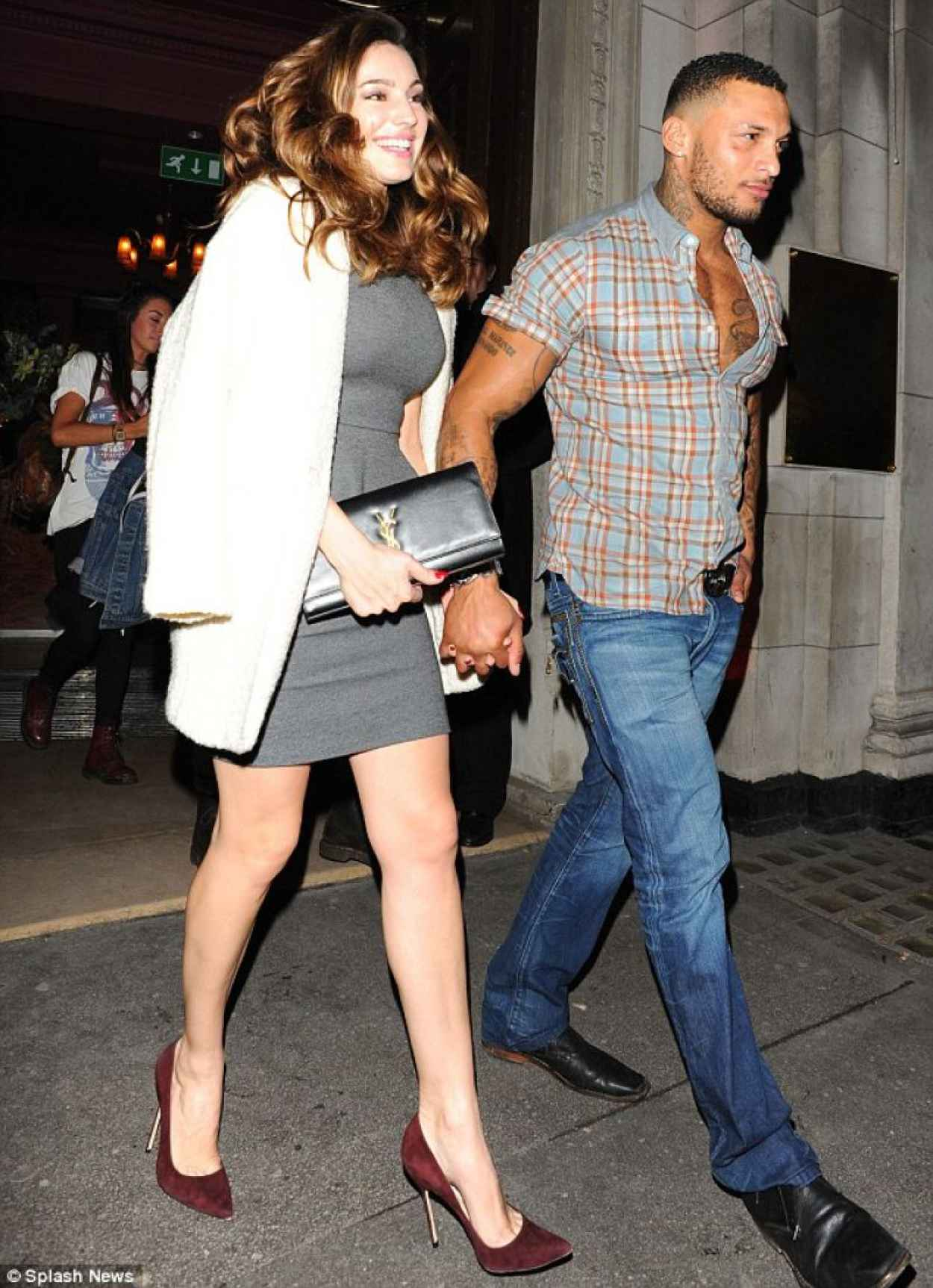 Kelly Brook Night Out Style - in Skintight Ddress - Steam and Rye Bar in London, January 2015-1