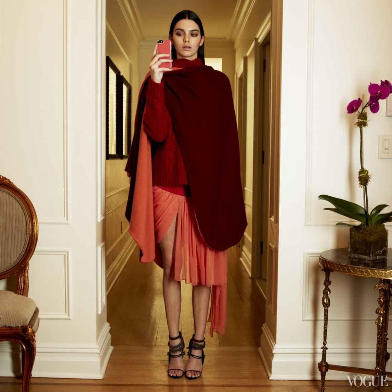 Kendall Jenner Fashion Week Instagram Shoot for VOGUE Magazine-1